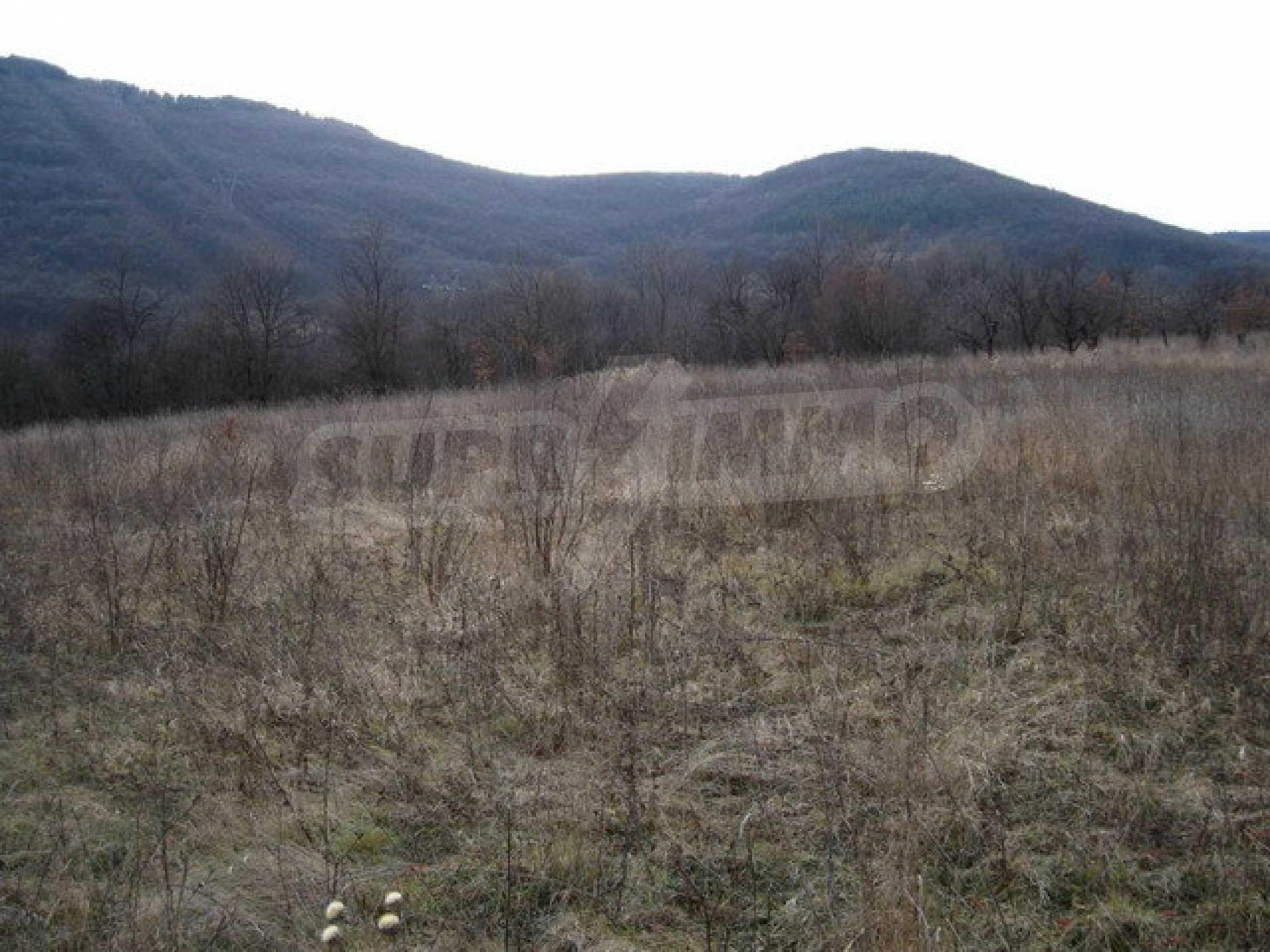 Большой земельный участок площадью 2849 кв. м. расположенный в  100 метрах от главной дороги