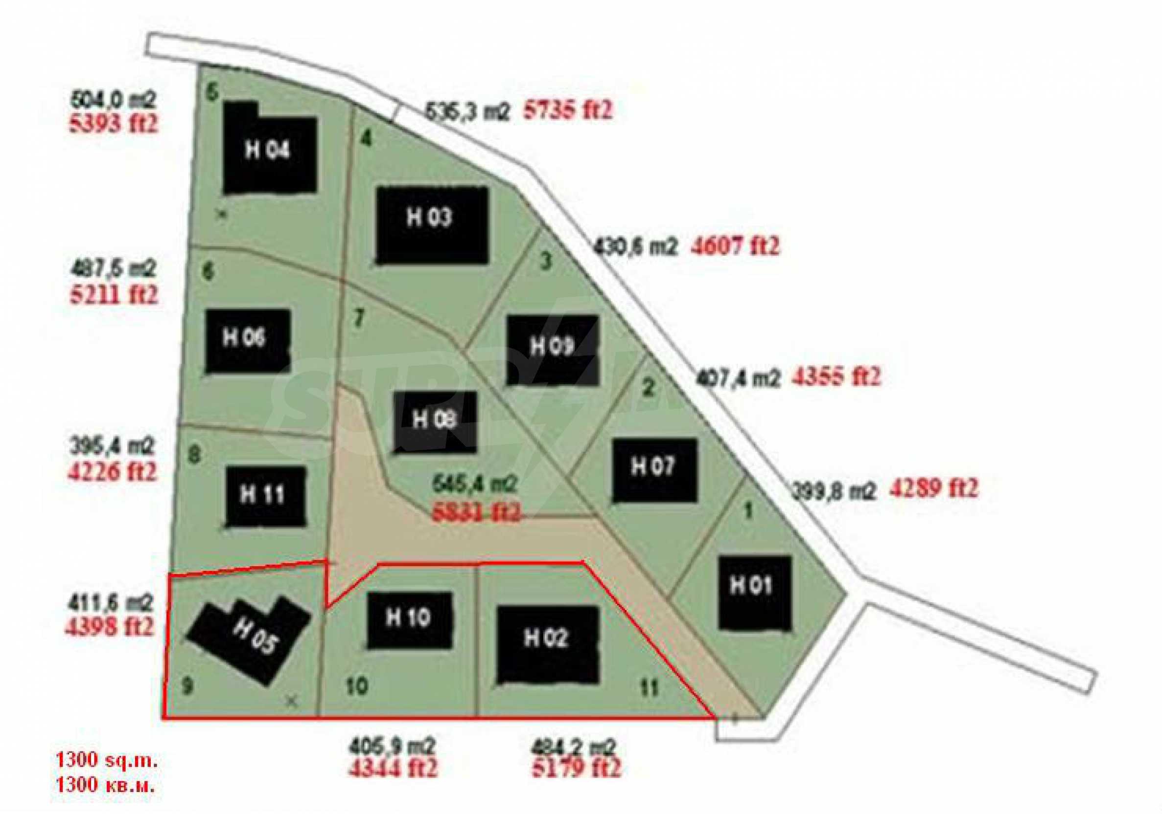 Земельный участок, предназначенный для постройки дома, в маленькой деревне в 5 км. от Дряново 2