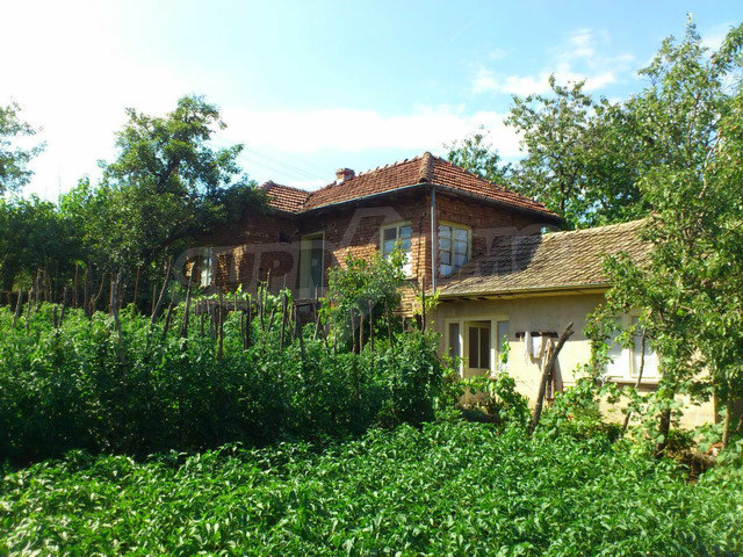 Two-storey brick house in a well developed village 30 km. from Veliko Tarnovo