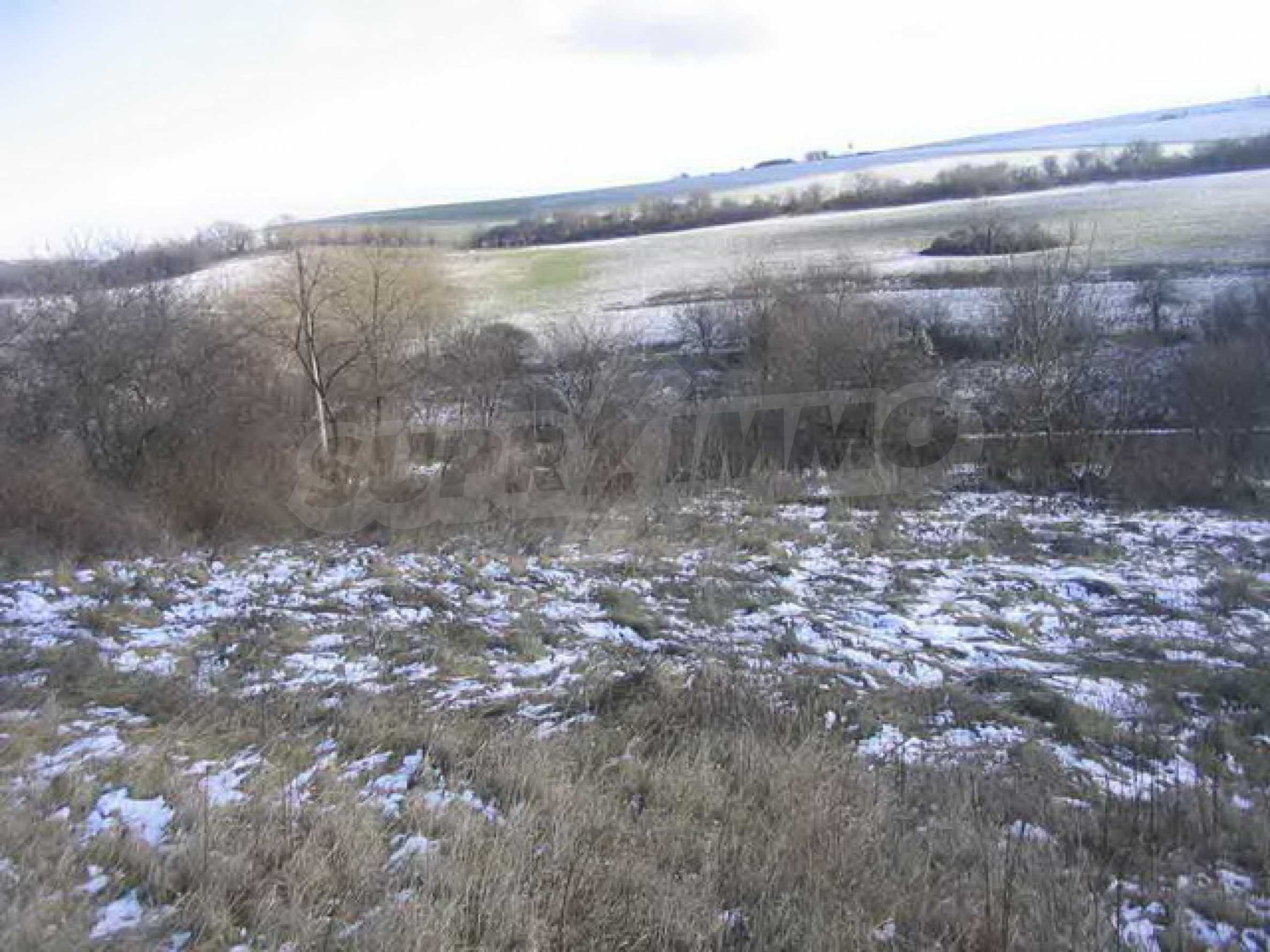 Grundstück in der Nähe eines kleinen Dammes