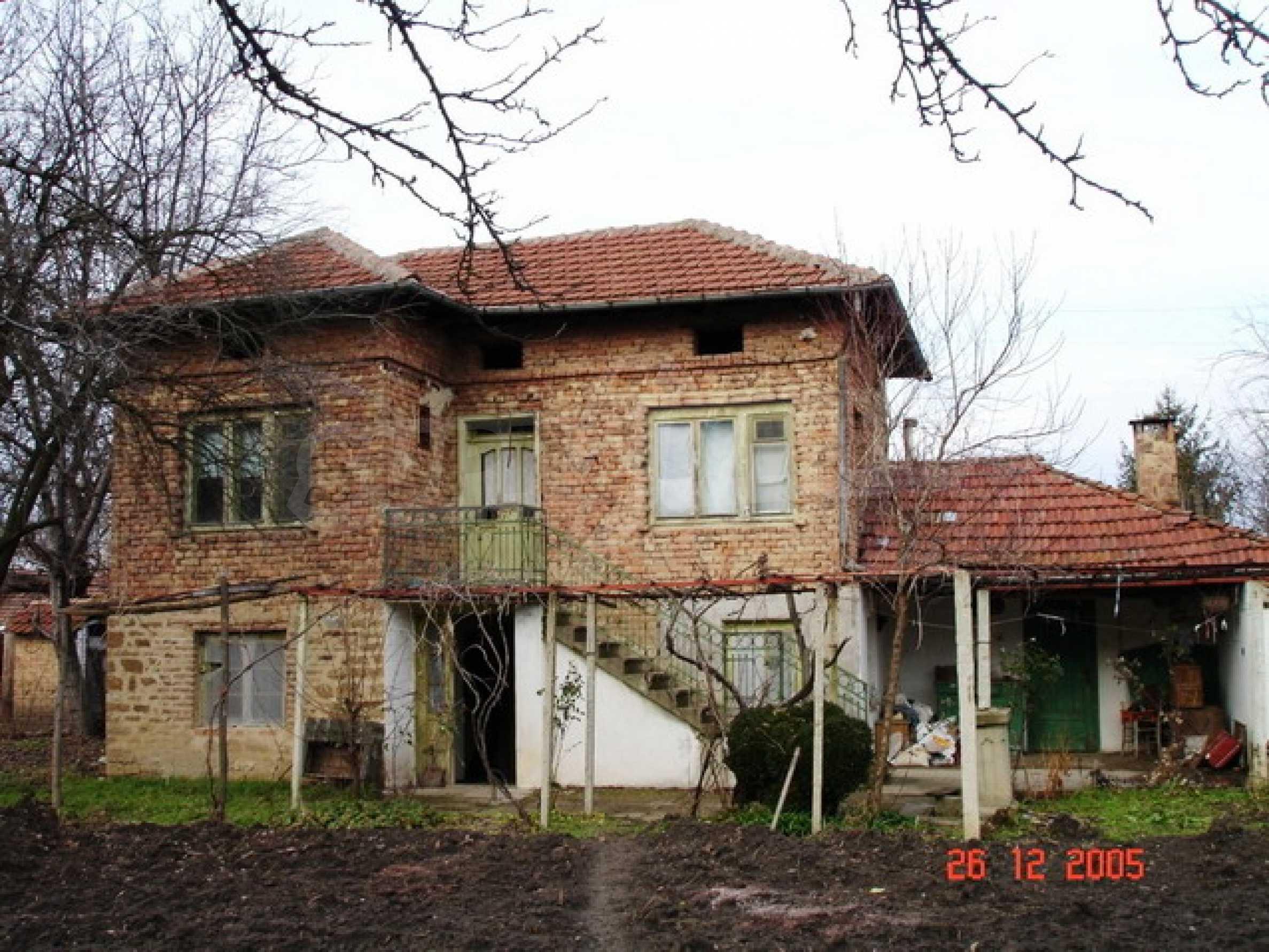 Brick-built village house
