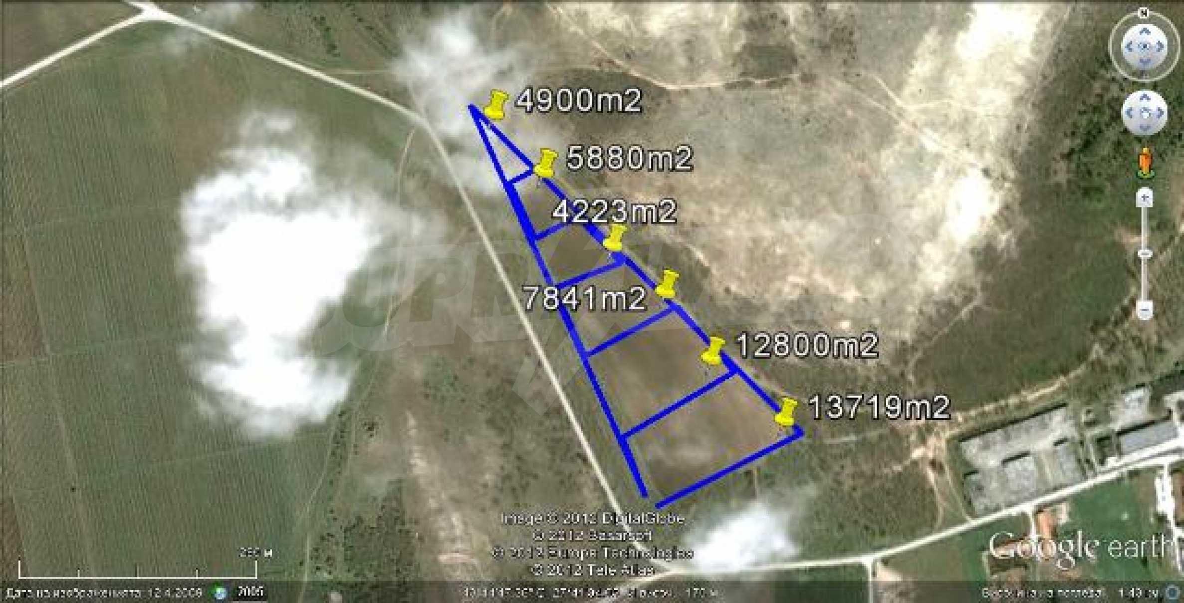 Участок площадь 49 362 кв.м. в 13 км от Варны