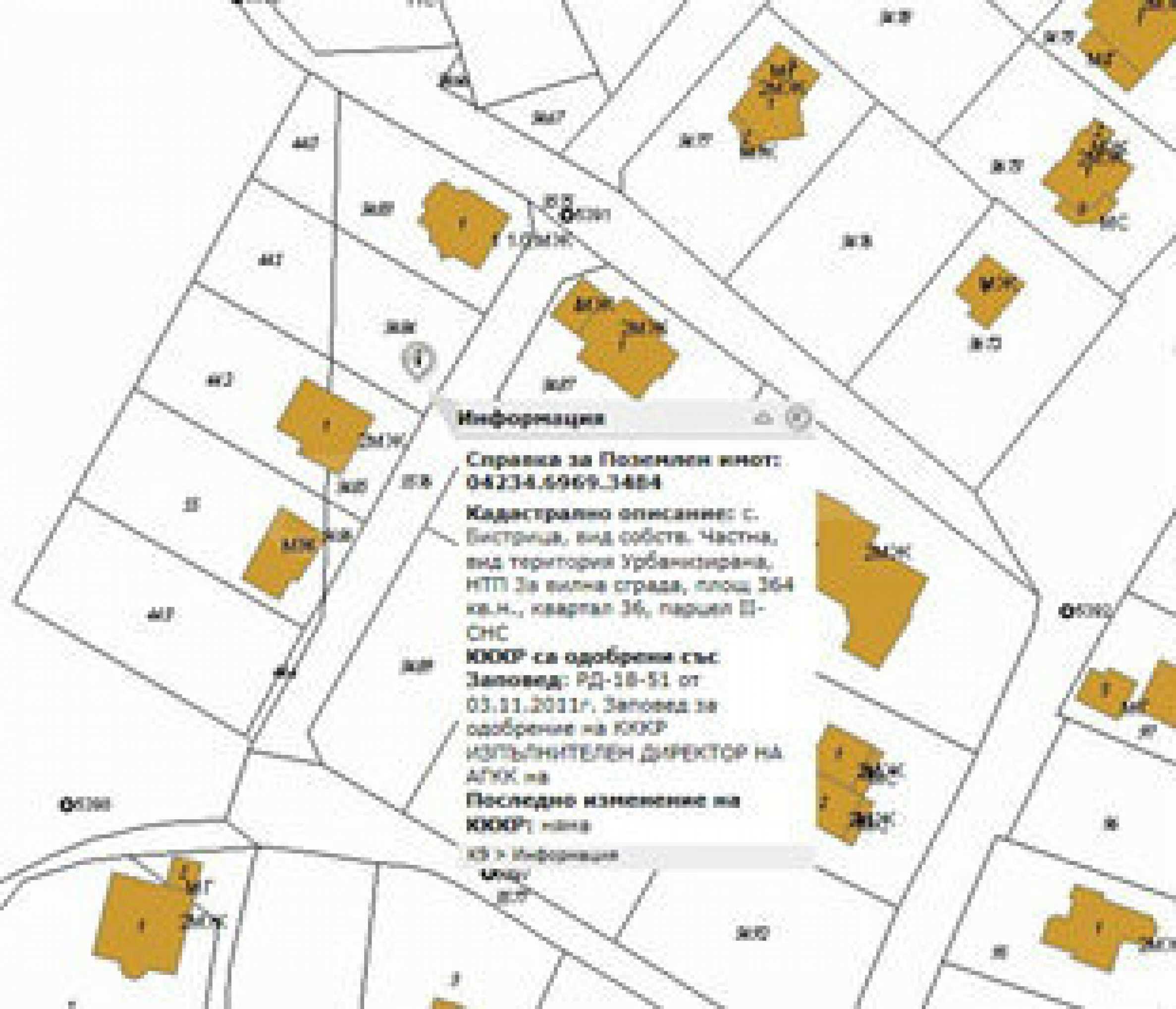 УПИ с целогодишен достъп в зелената част на Бистрица 4