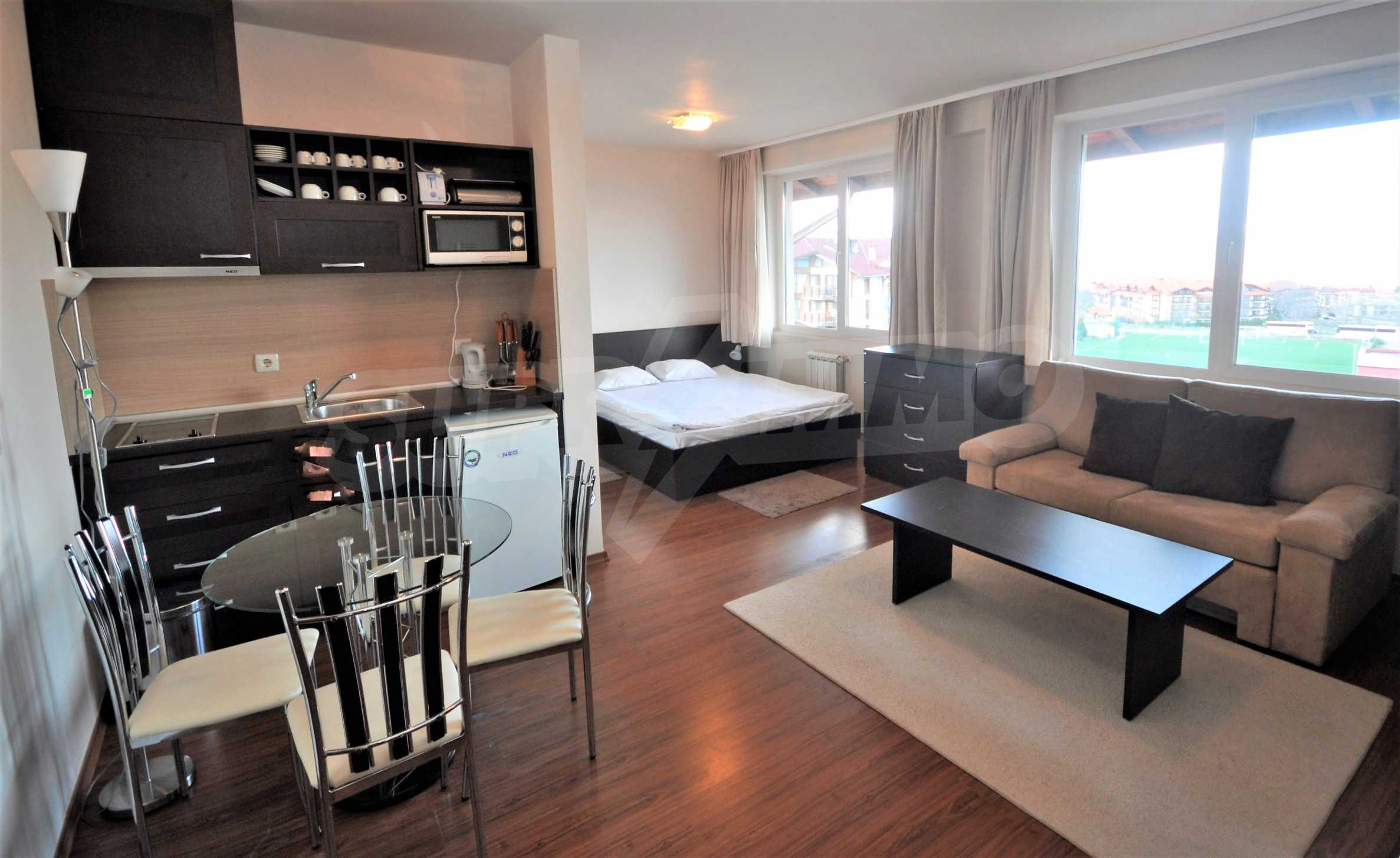 Furnished studio only meters away from the ski lift in Bansko 1