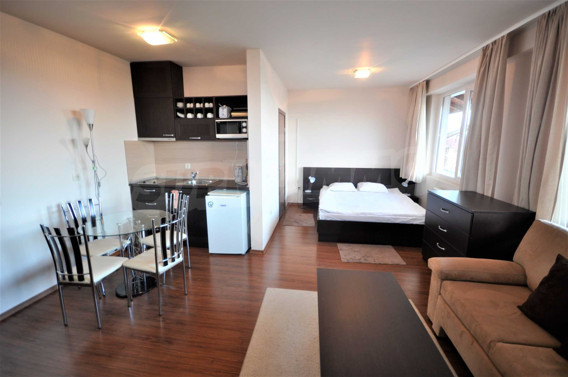 Furnished studio only meters away from the ski lift in Bansko 2