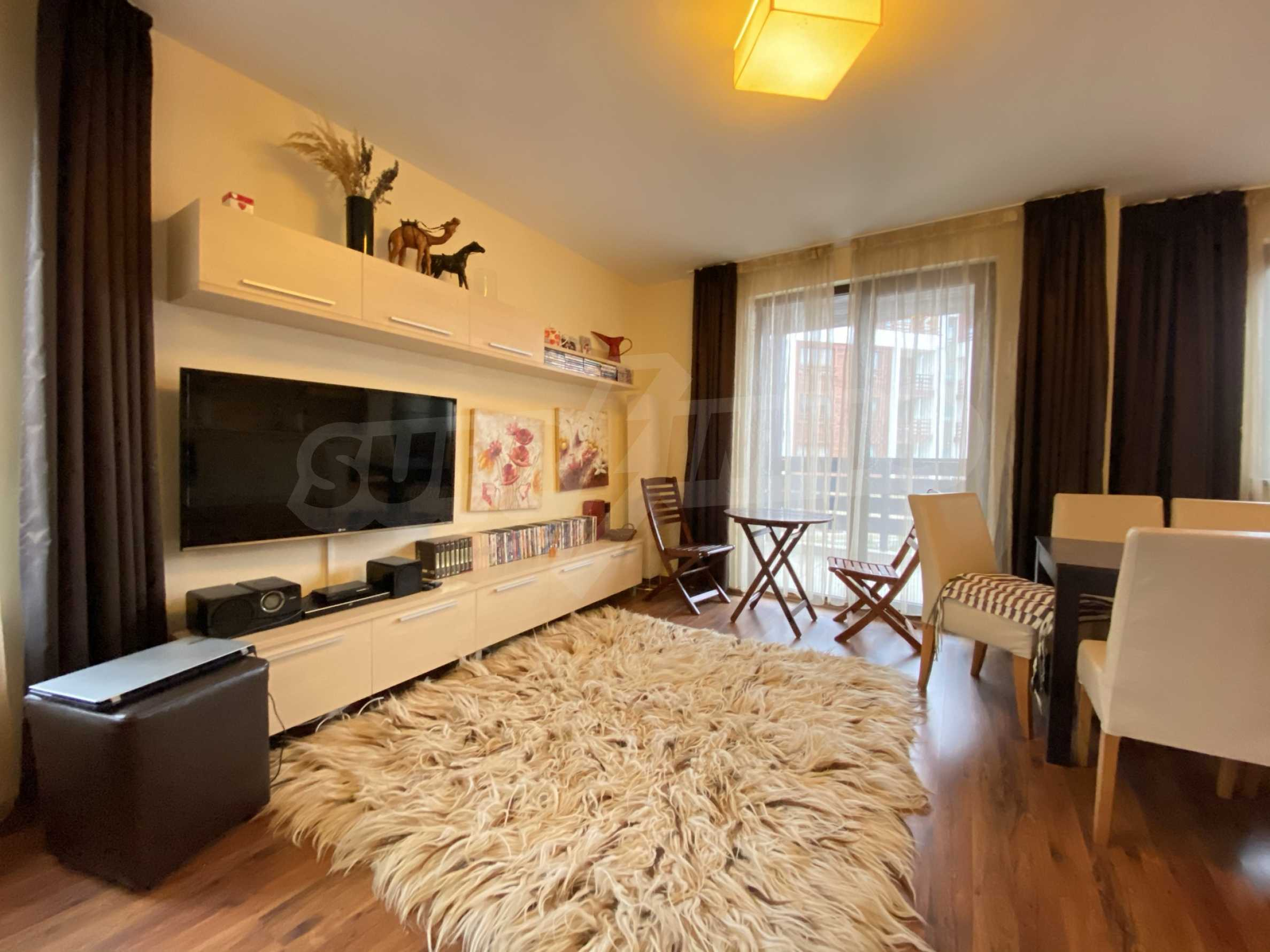 Furnished one-bedroom apartment 150 m from the ski lift in Bansko