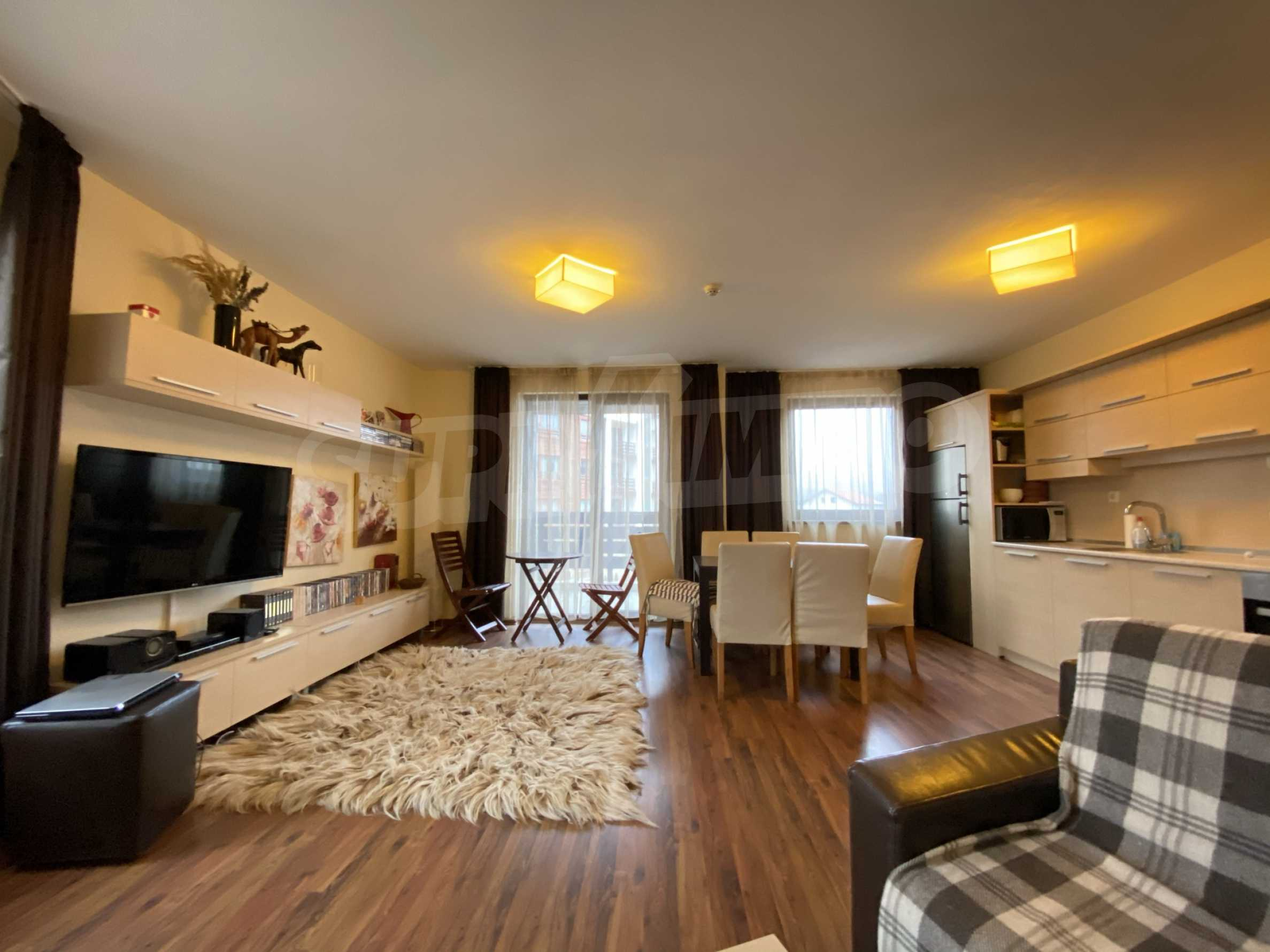 Furnished one-bedroom apartment 150 m from the ski lift in Bansko 1