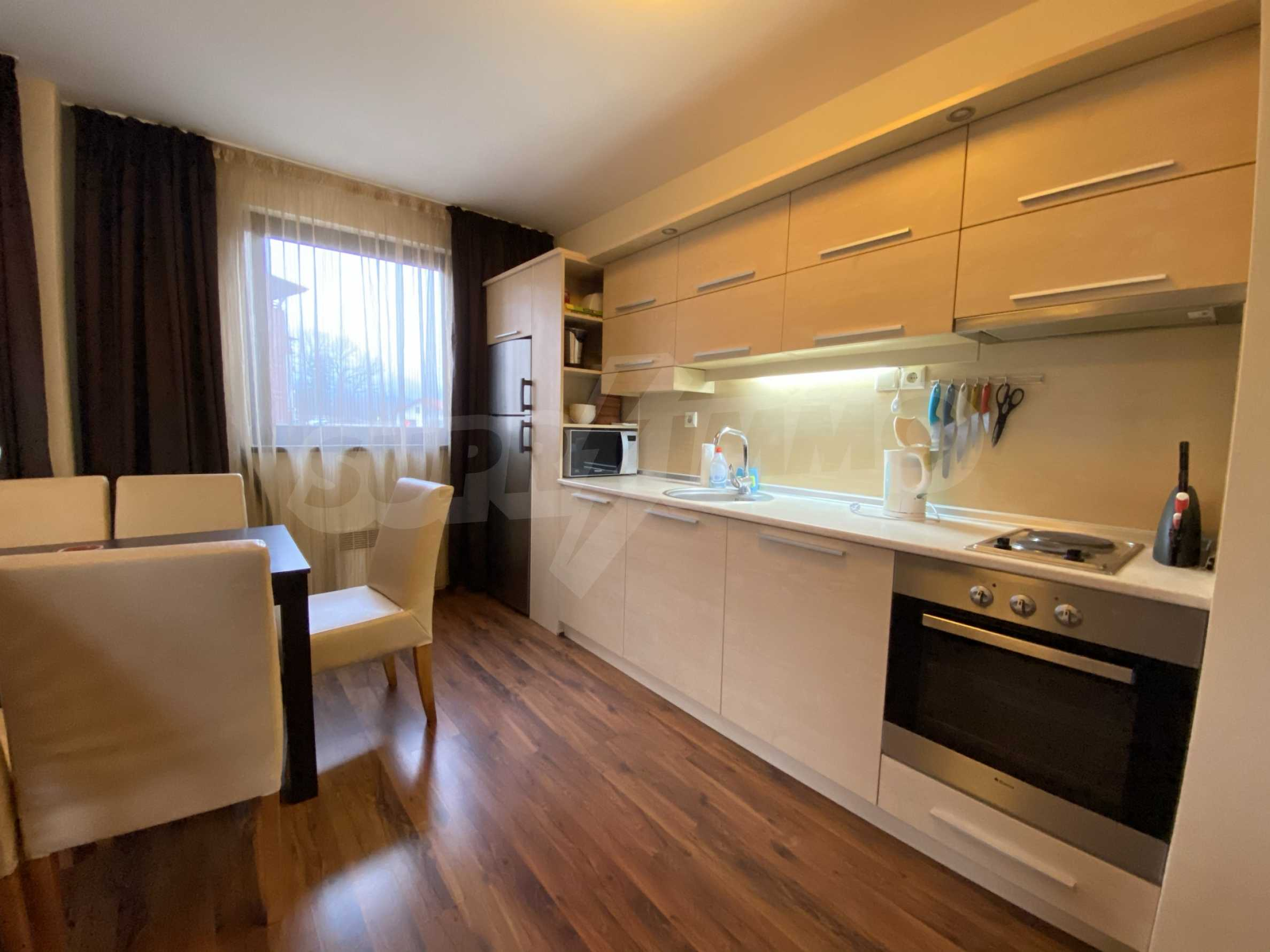 Furnished one-bedroom apartment 150 m from the ski lift in Bansko 4