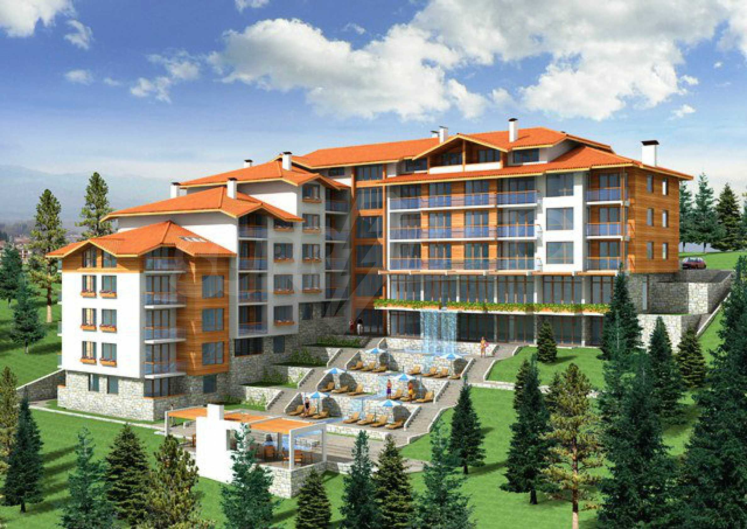 Regulated plot with investment project for construction of apart-hotel in Bansko 1
