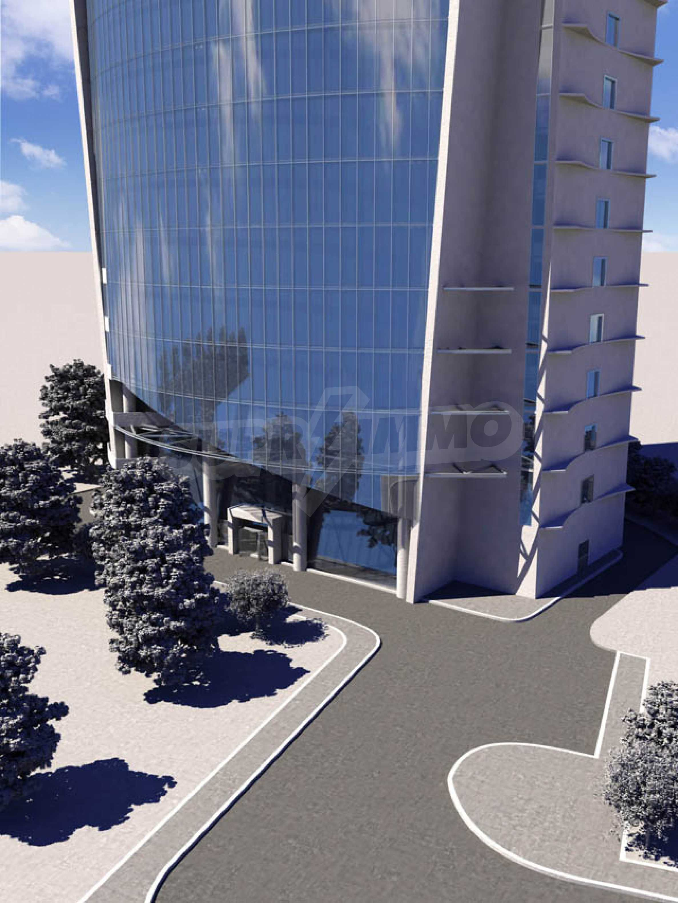 Plot with project for construction of an office building