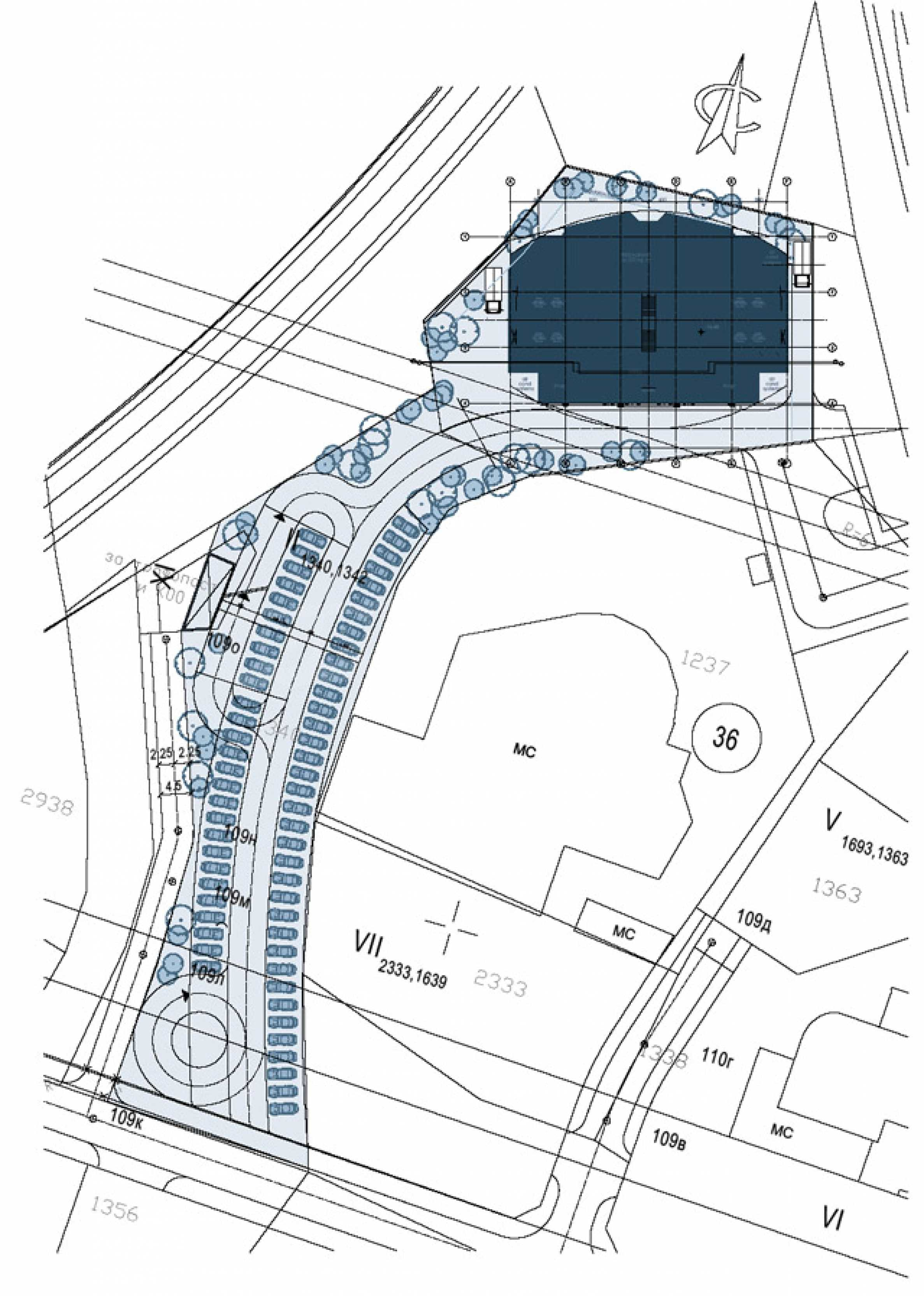 Plot with project for construction of an office building 4