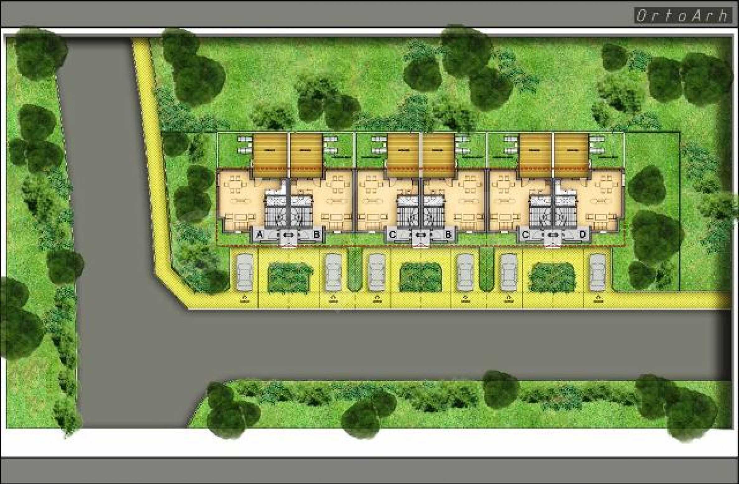 Baugrundstück mit Projekt im Dorf Topola 6