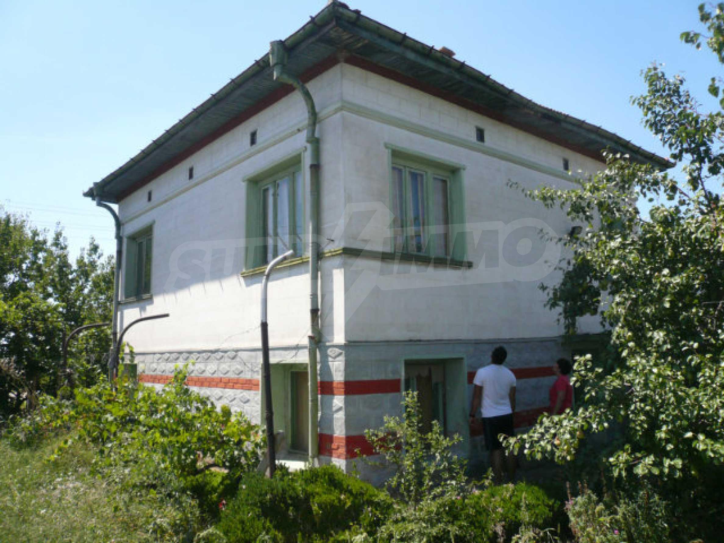 Big rural two-storey house on the Danube river near Vidin