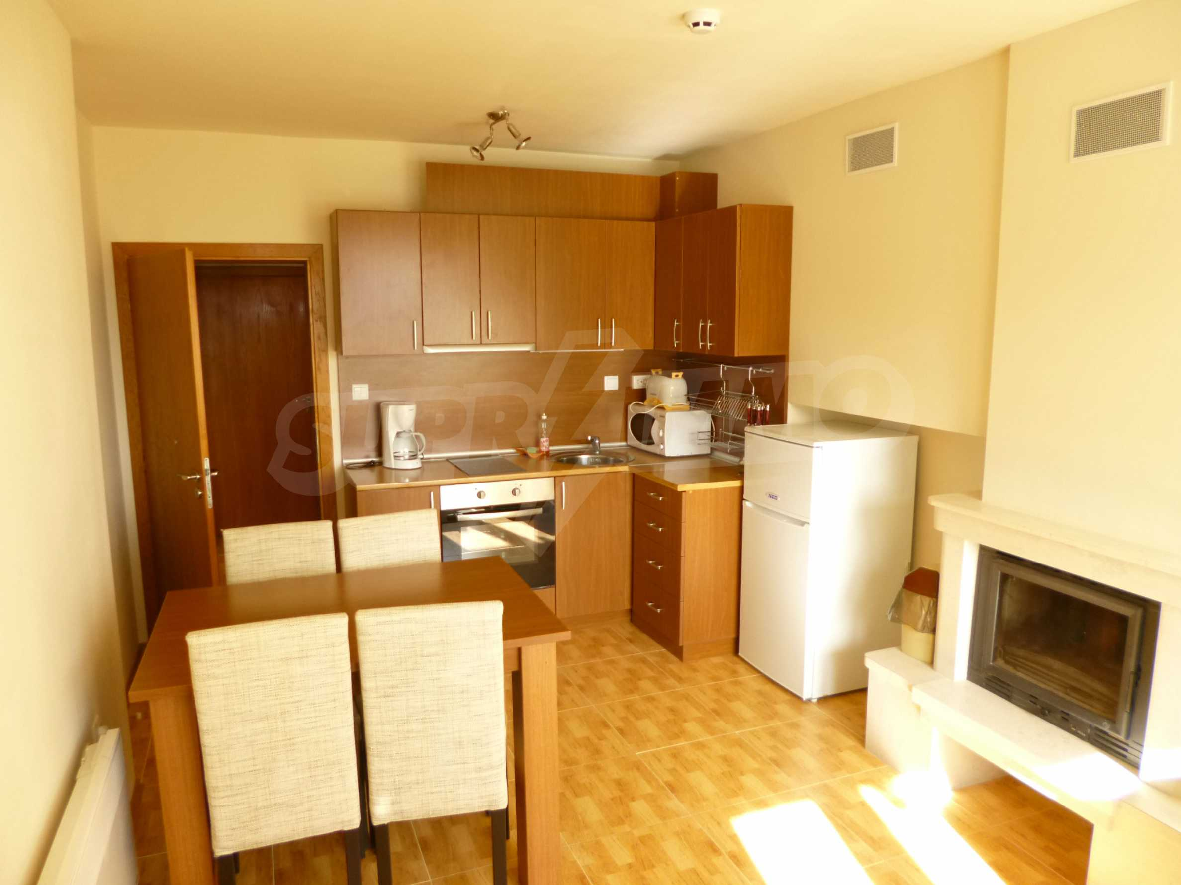 Elegant fully equipped and furnished 1-bedroom apartment in the gated complex Lucky Pamporovo 1