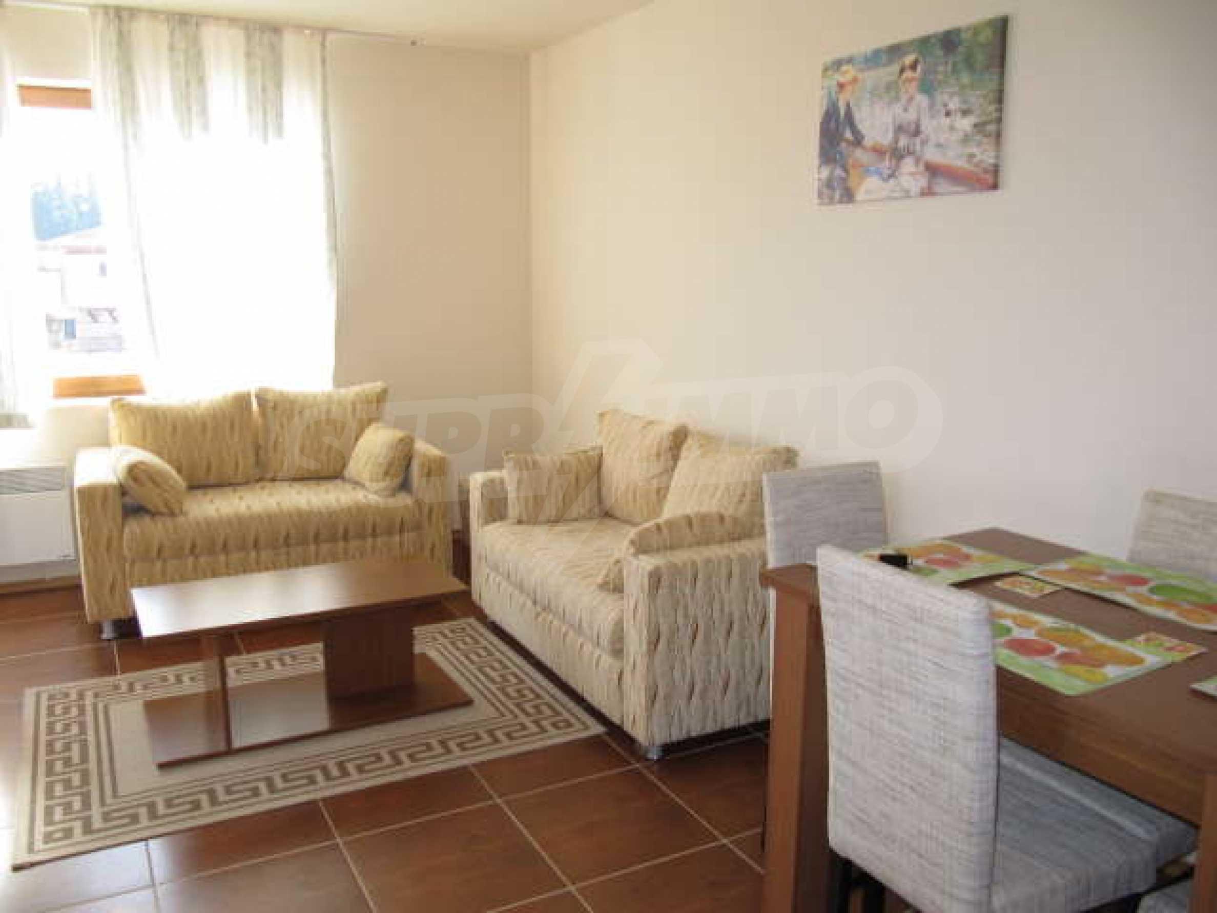 Komplett eingerichtete und ausgestattete Wohnung im Lucky-Komplex in Pamporovo