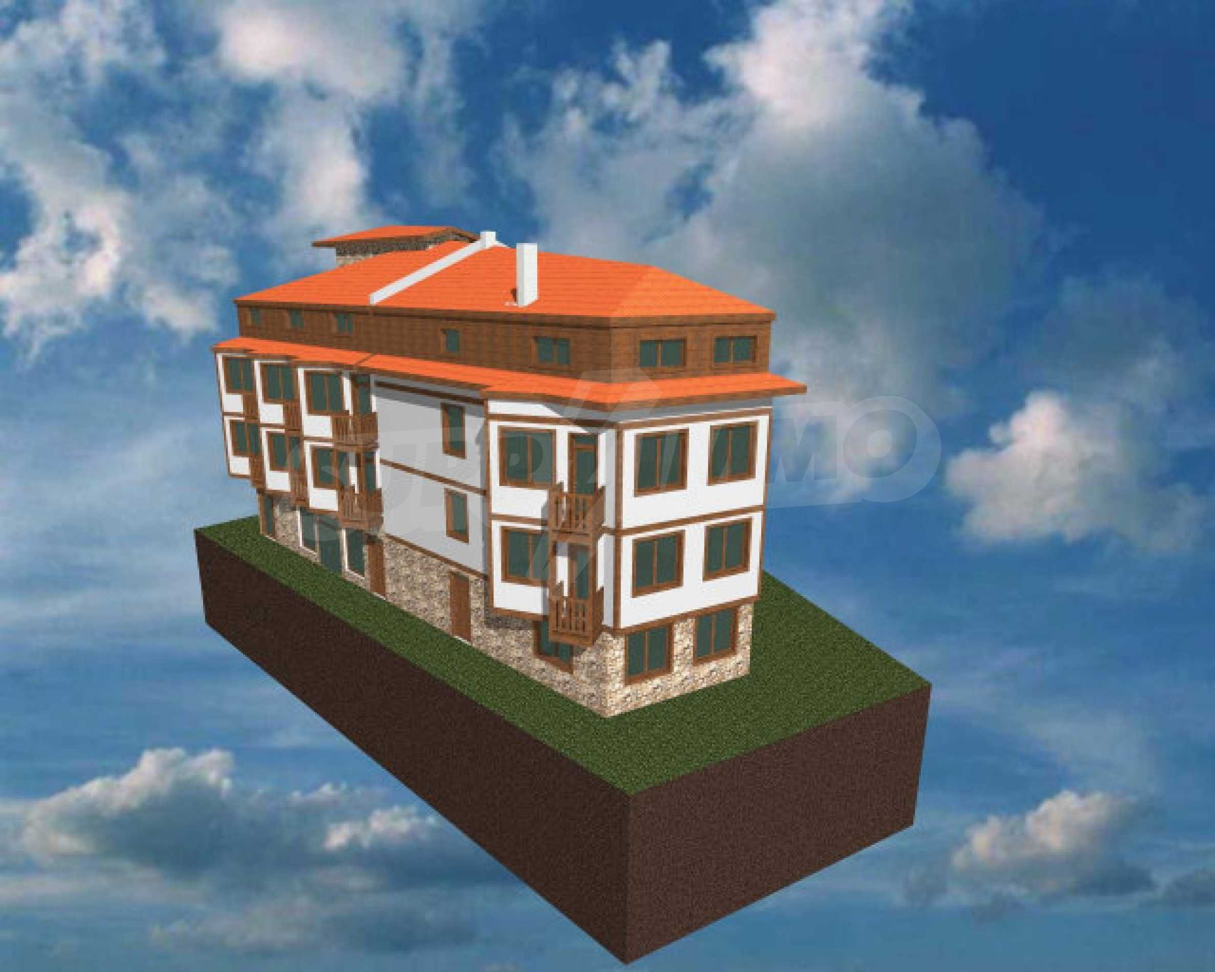 Three-storey hotel at shell stage for sale in Bansko  12