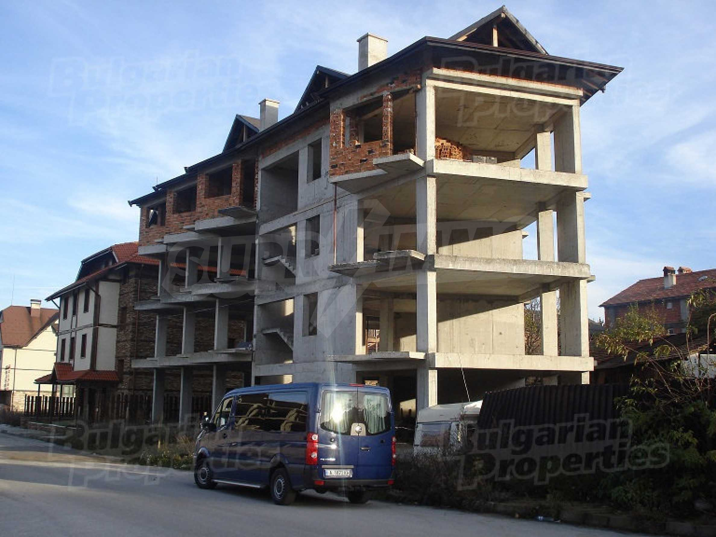 Three-storey hotel at shell stage for sale in Bansko  16