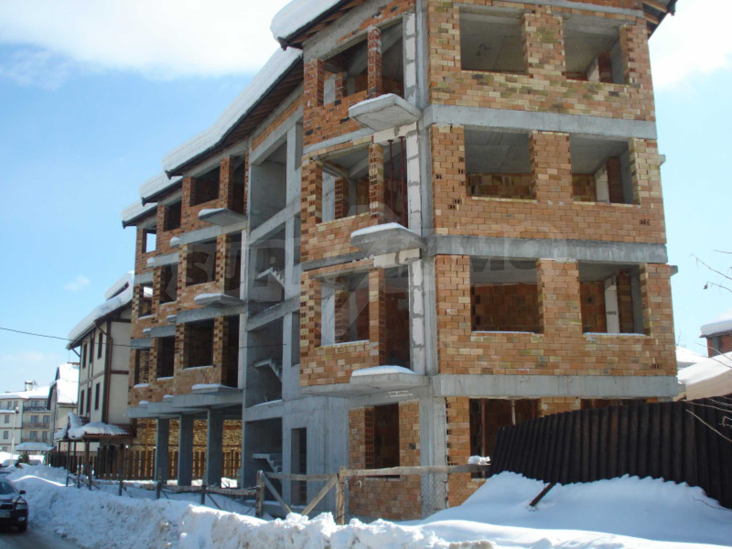 Three-storey hotel at shell stage for sale in Bansko  18
