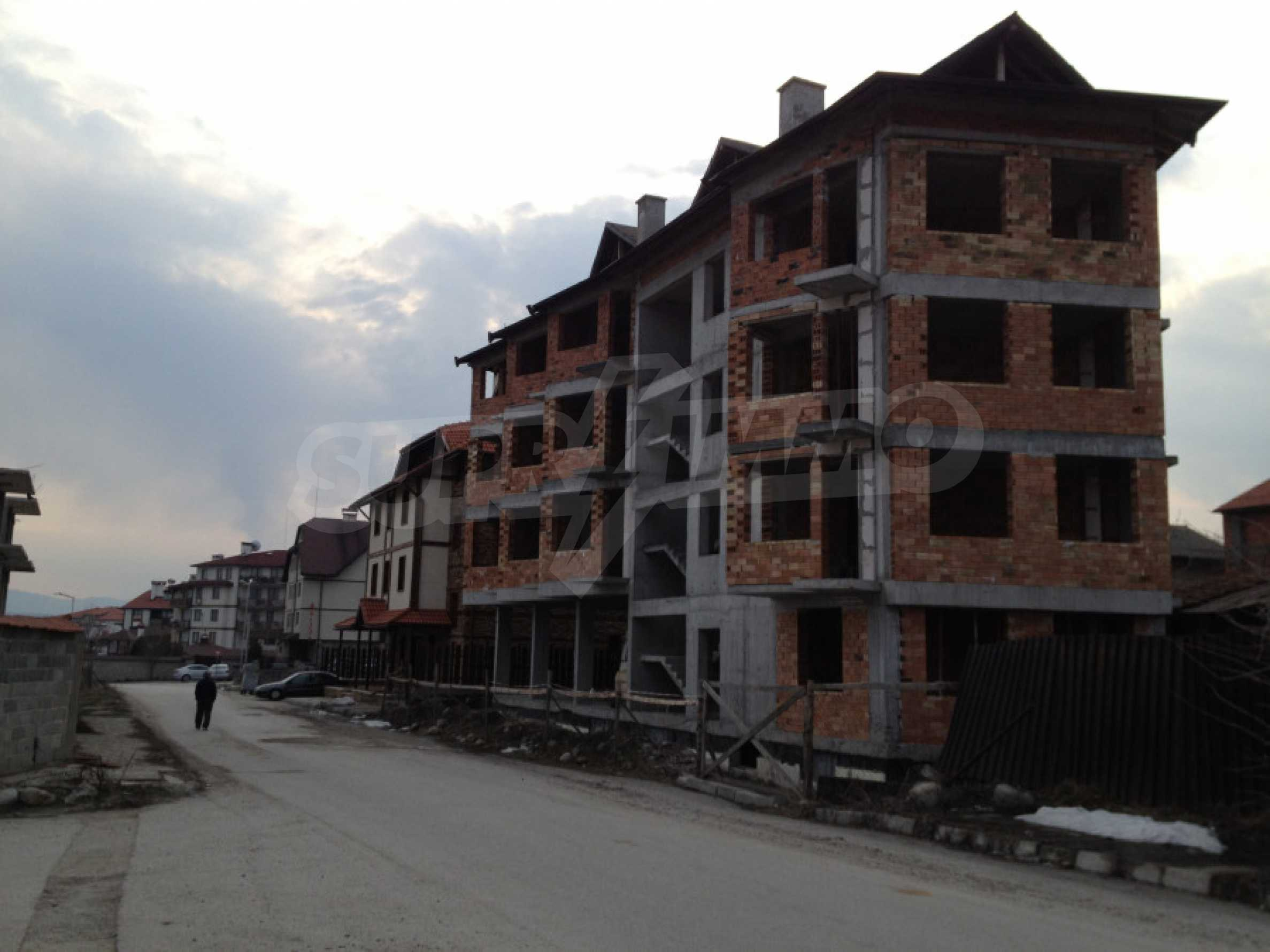 Three-storey hotel at shell stage for sale in Bansko  21