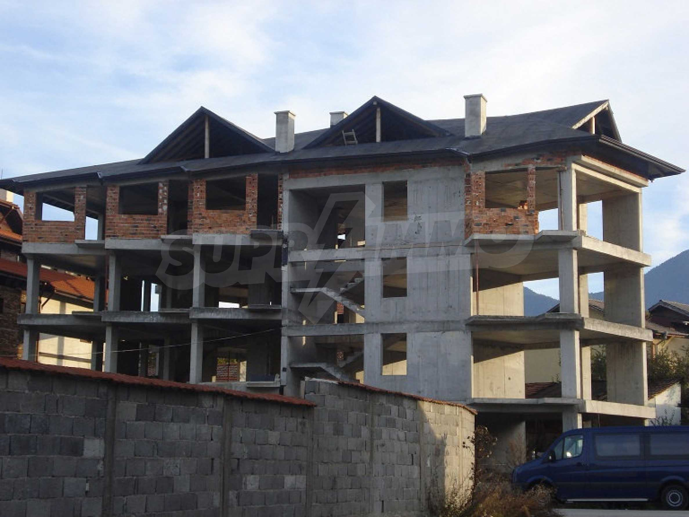 Three-storey hotel at shell stage for sale in Bansko  7