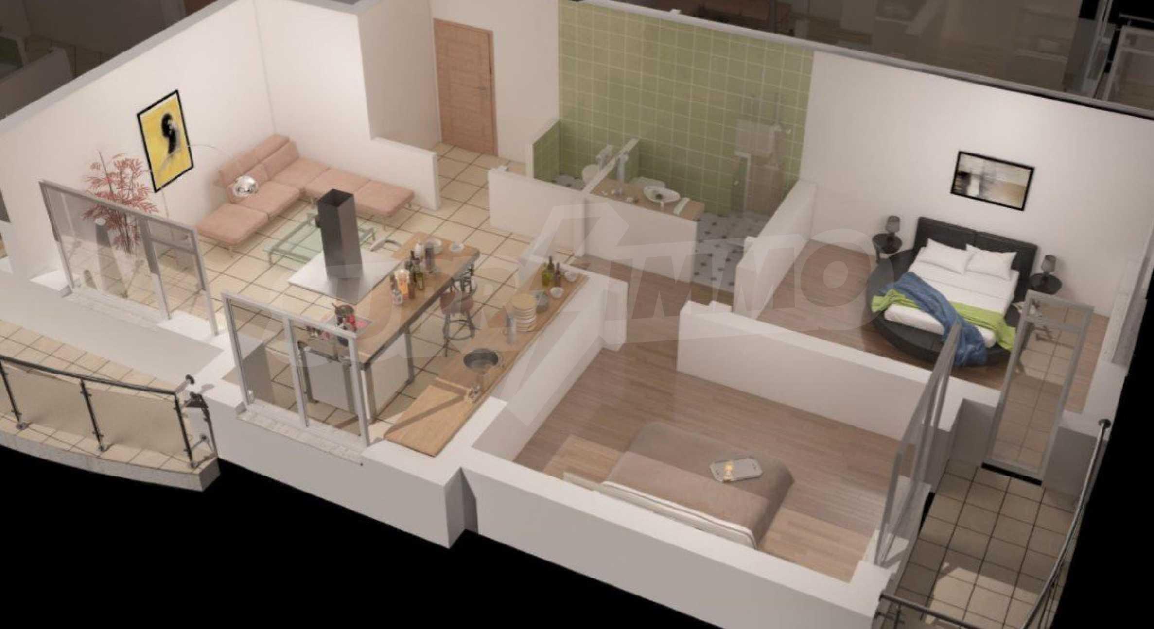 Новострояща се сграда с гаражи в добре развит квартал на София 3