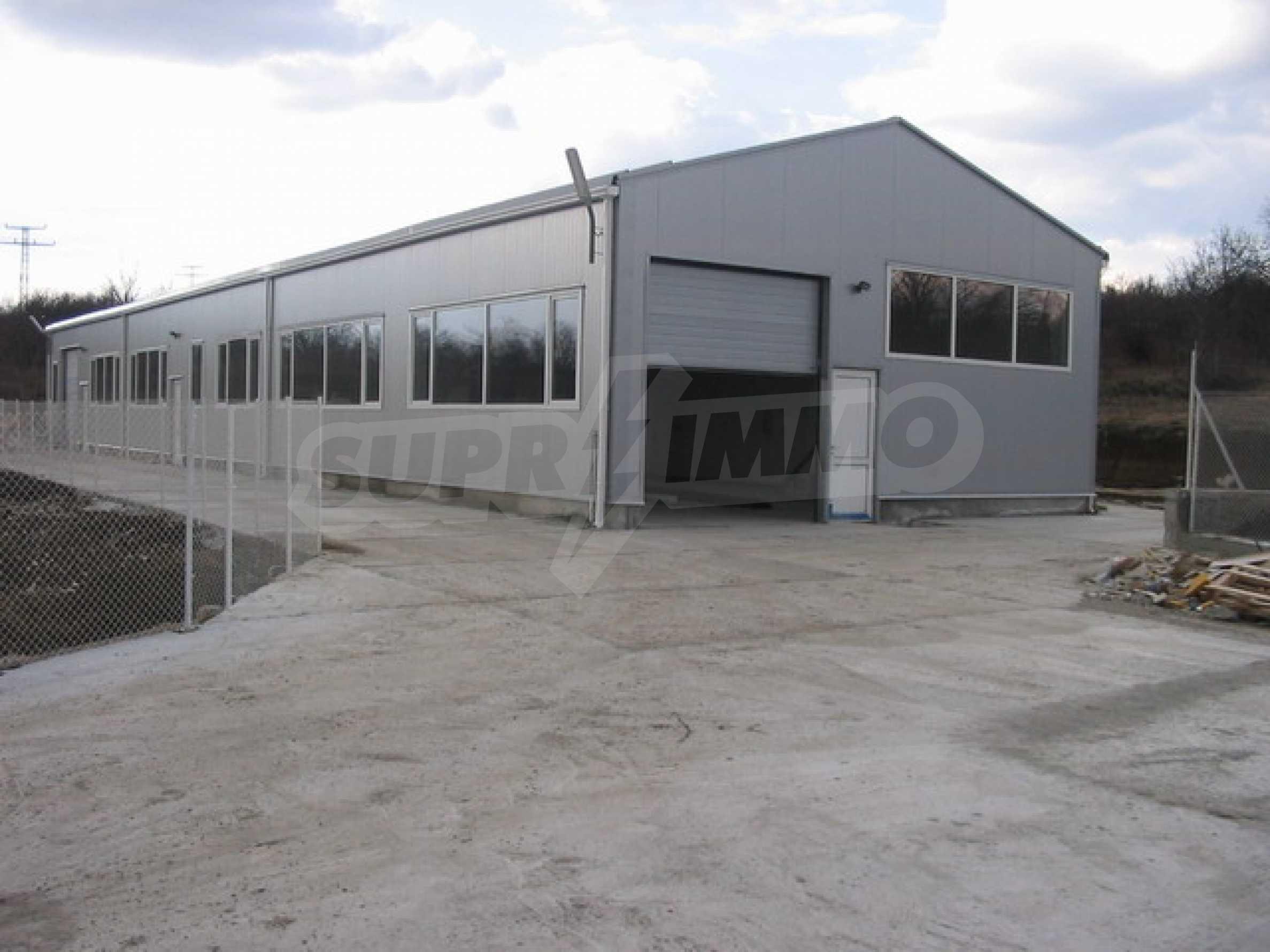 Produktionsgebäude im industriellen Teil von Veliko Tarnovo