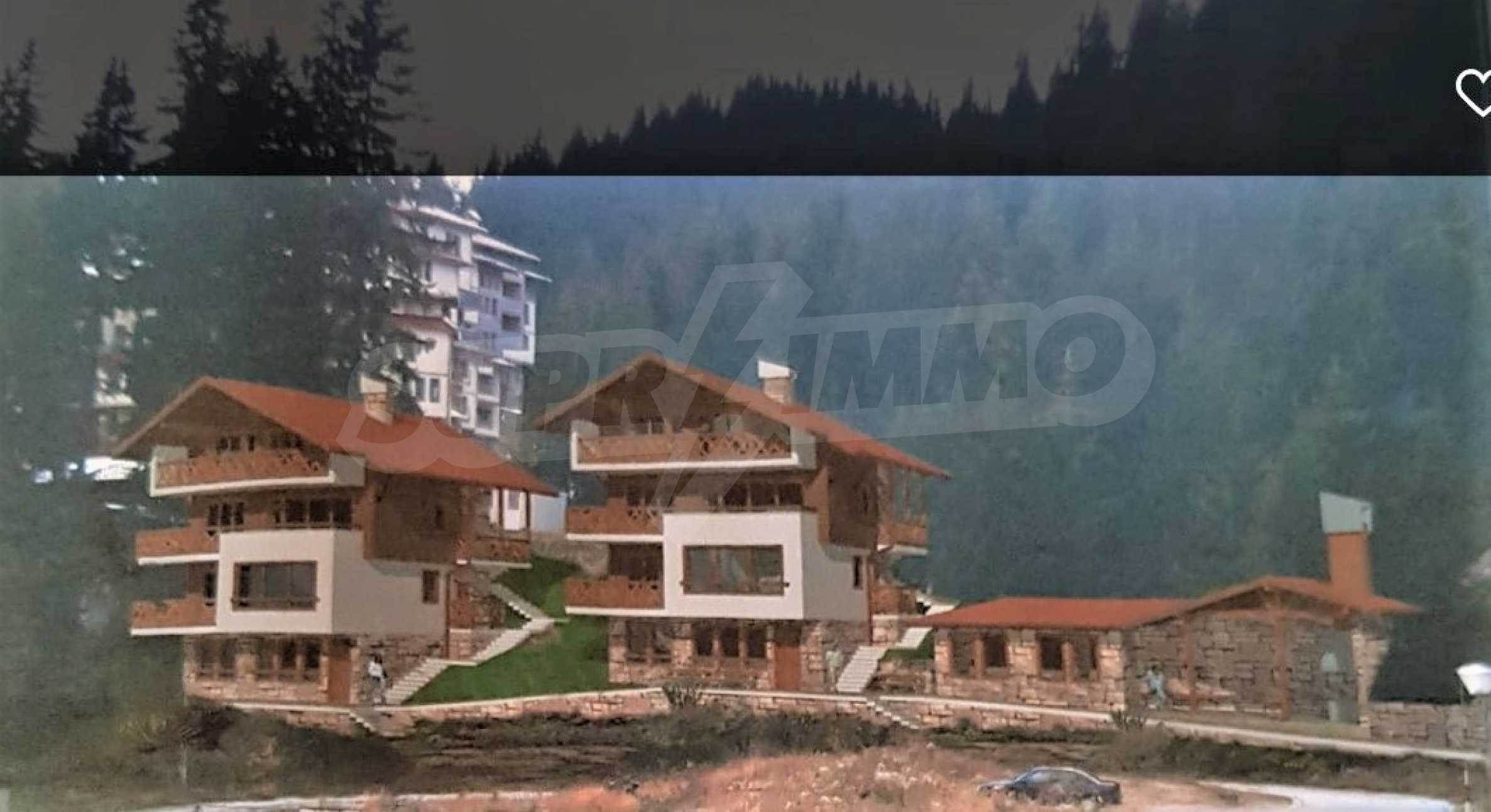 Modern, finished houses near the ski run and road in Pamporovo 1
