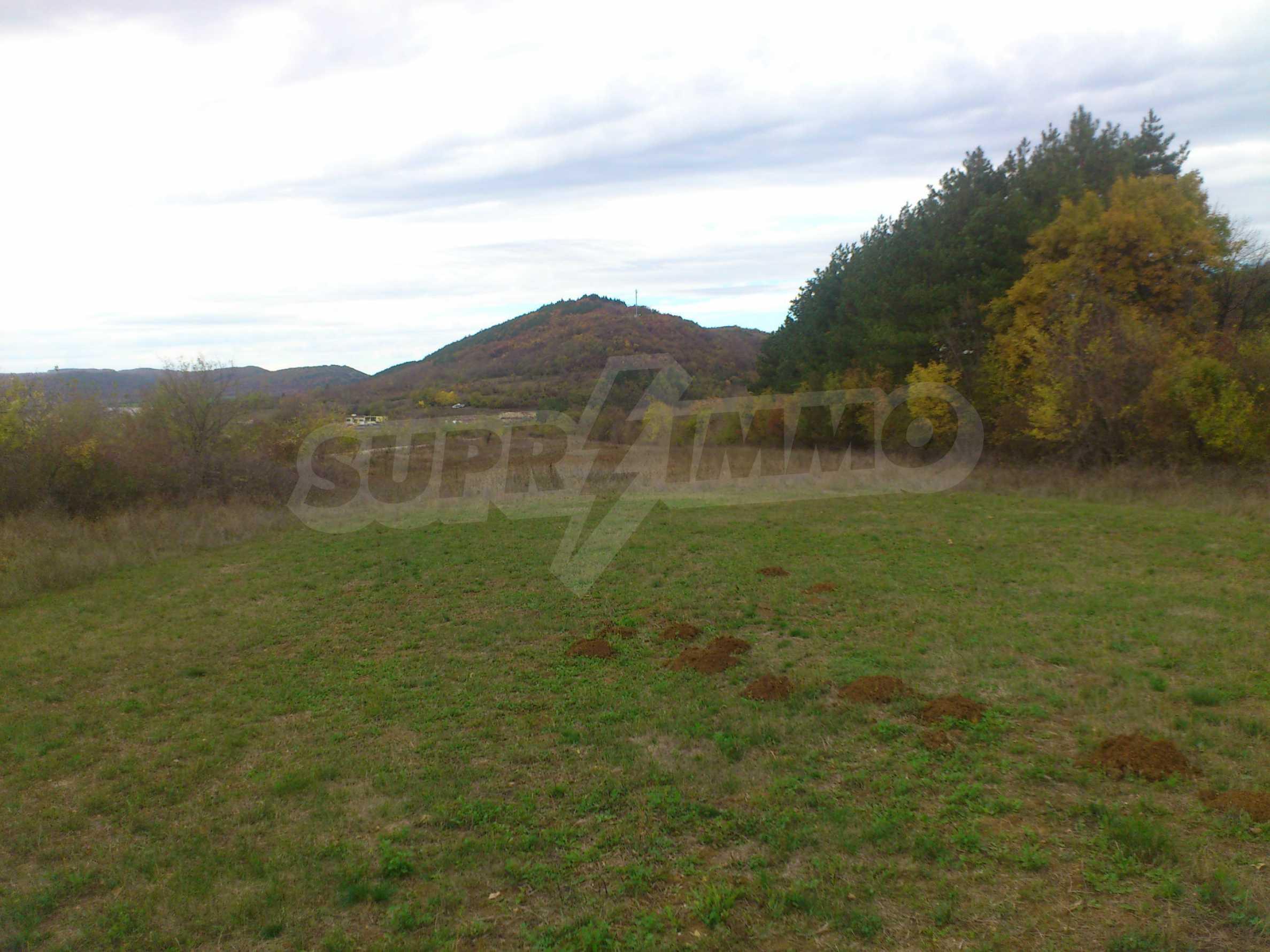 Grundstück 3 km von Veliko Tarnovo entfernt mit Blick auf eine Asphaltstraße