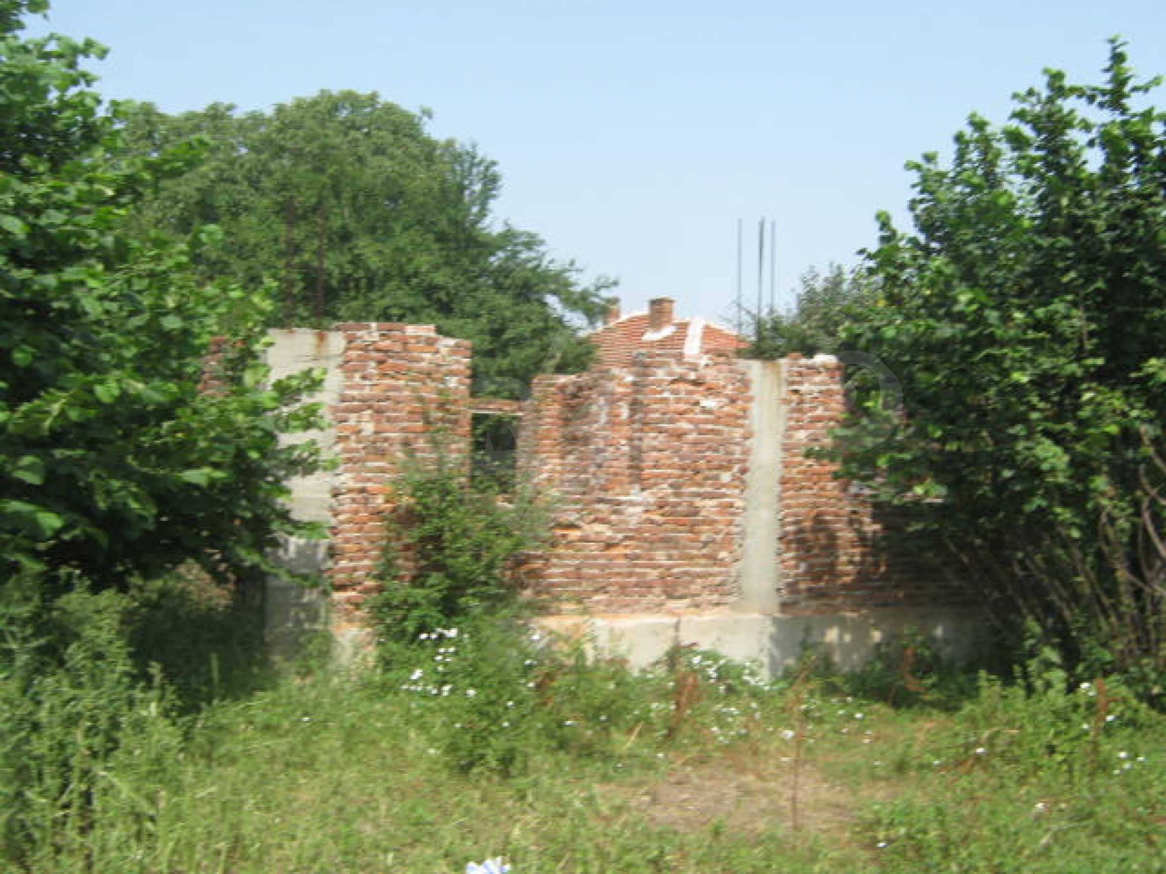 Rural house with yard on the Danube river 1