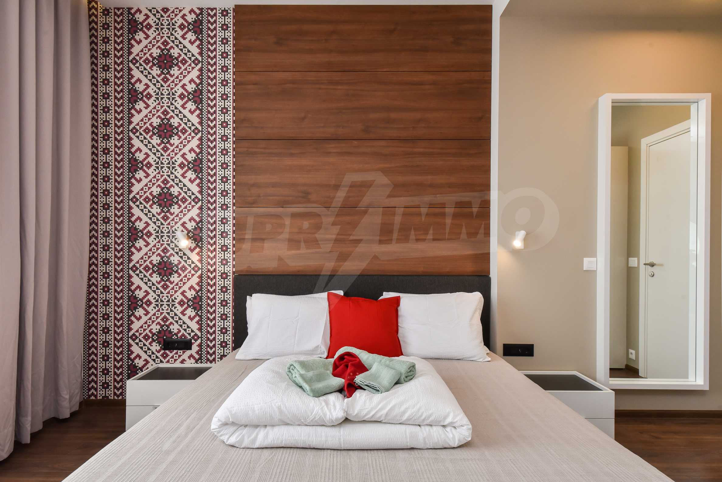 Designer two bedroom apartment in top center with working business 10