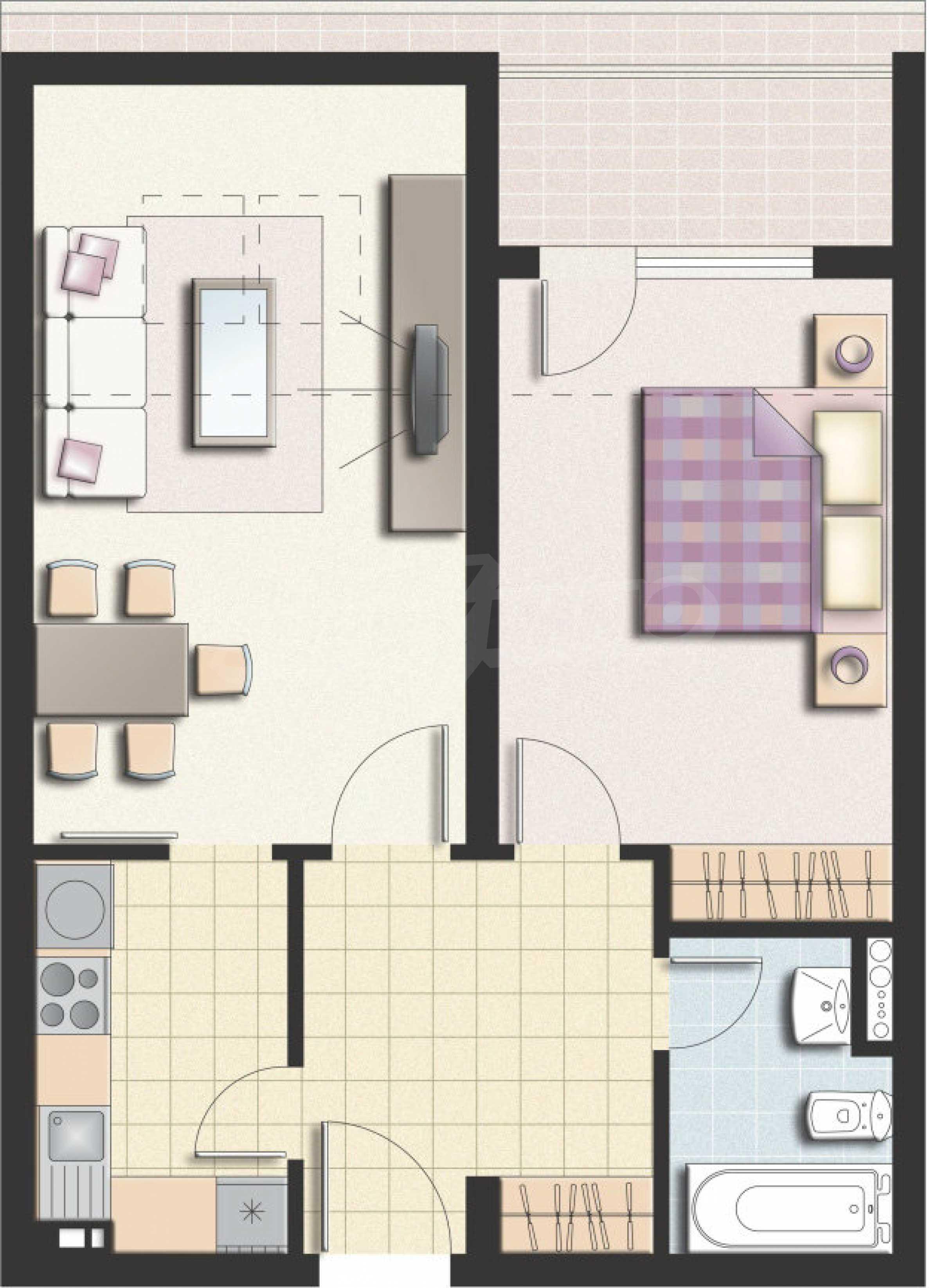 Wohnung zu vermieten in Lyulin-3 Bezirk neben der U-Bahn 9