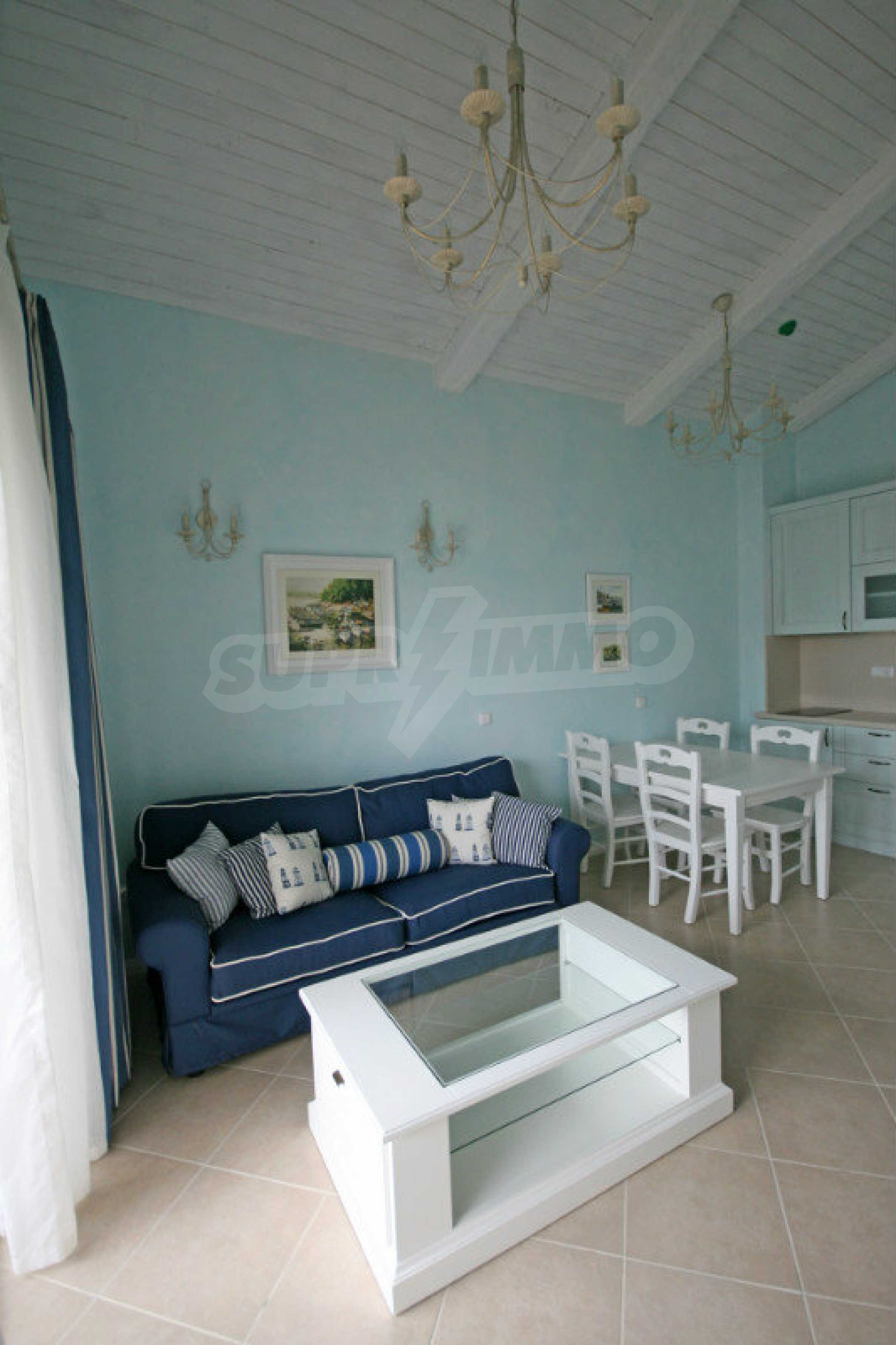Two bedroom apartment with stylish furniture in a first line complex 4