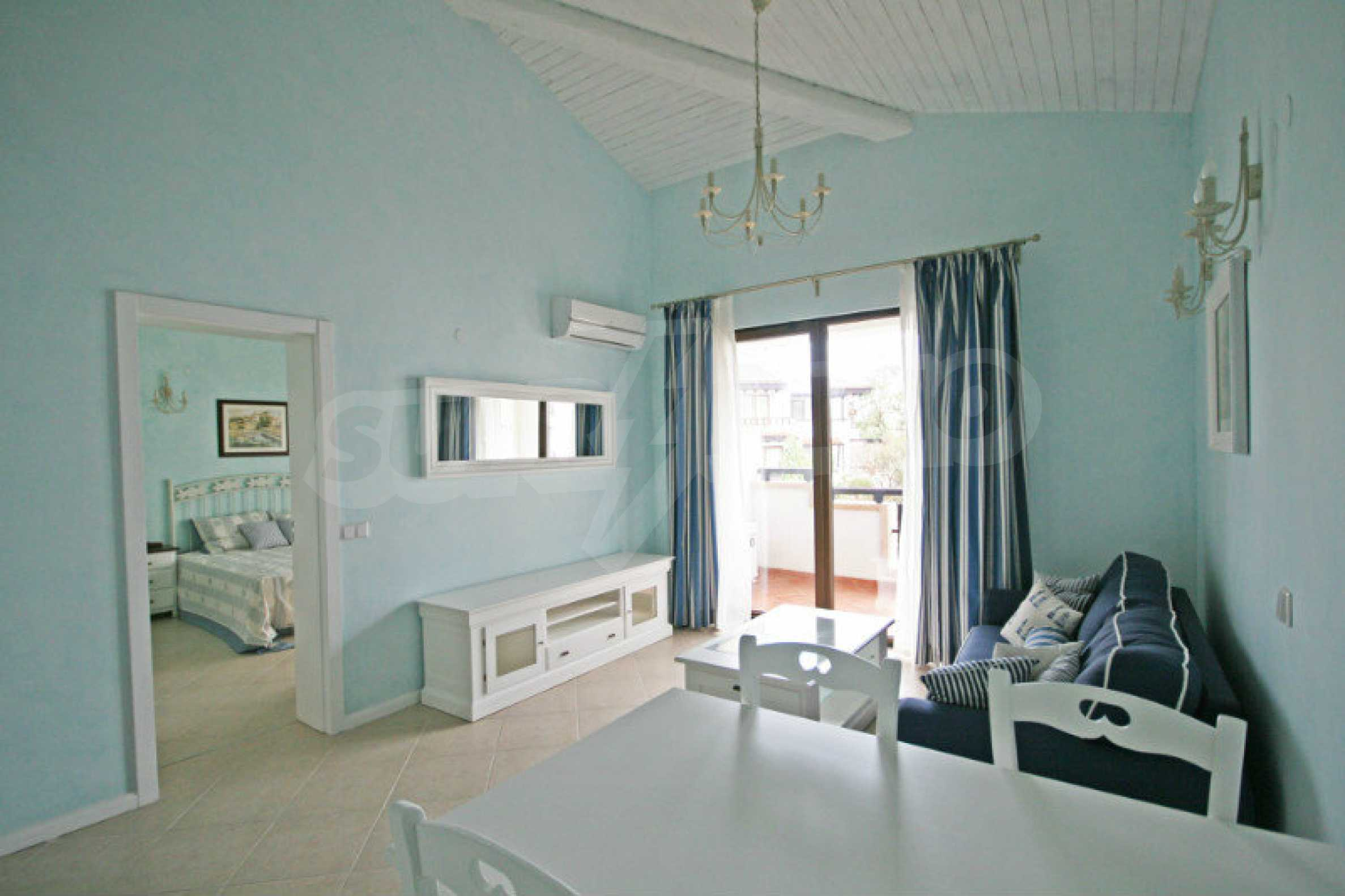 Two bedroom apartment with stylish furniture in a first line complex 5