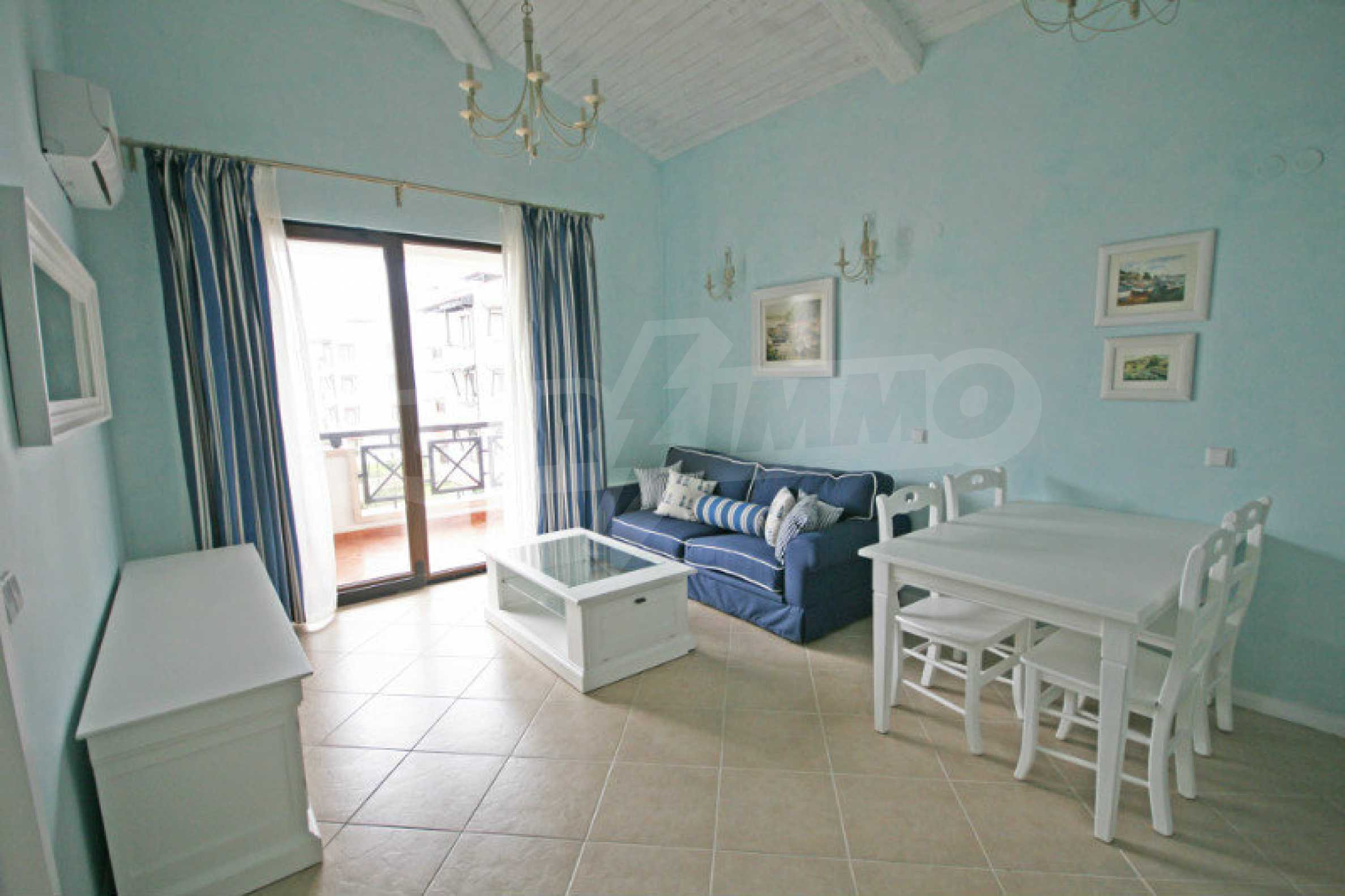 Two bedroom apartment with stylish furniture in a first line complex 2