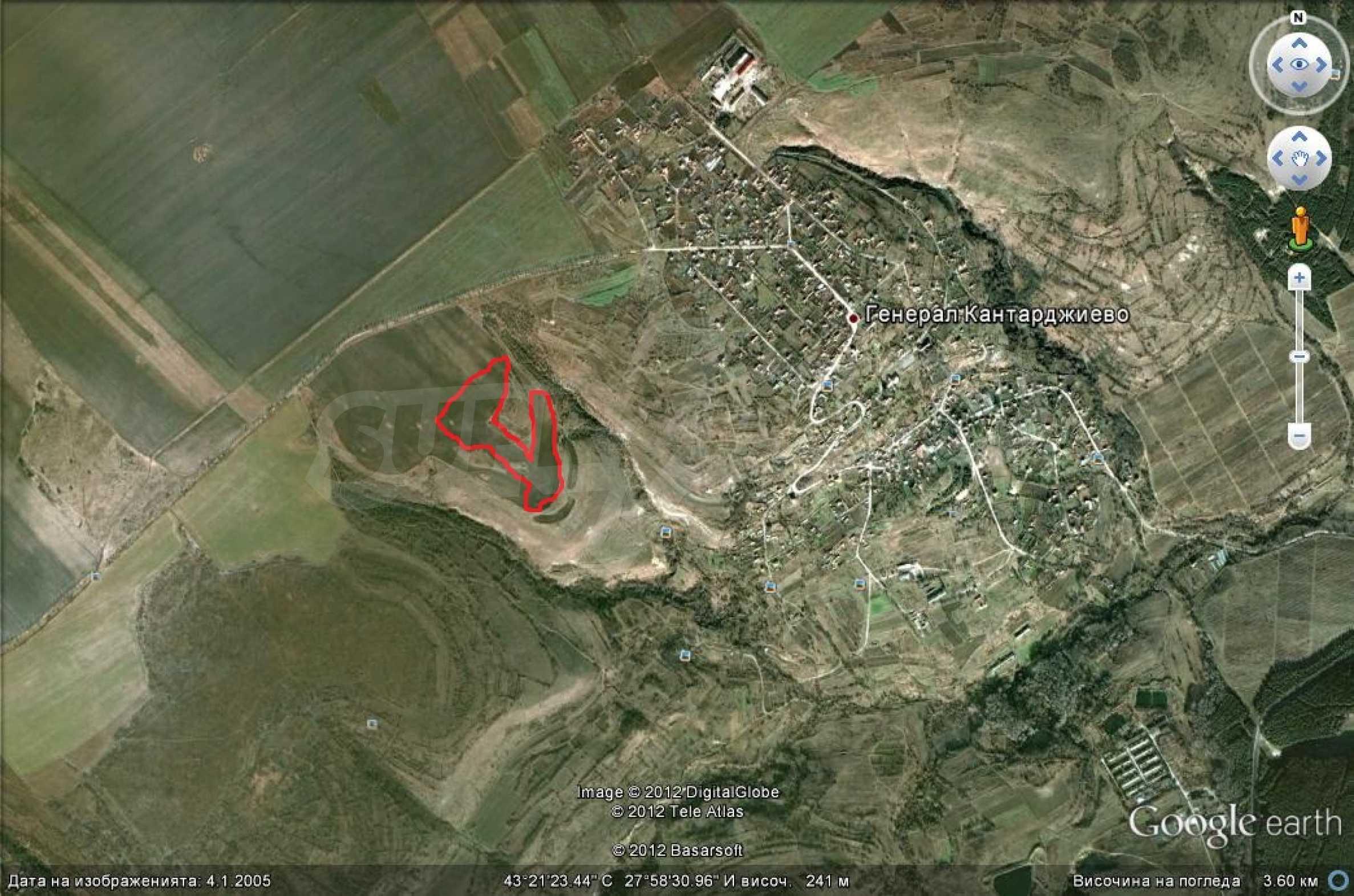 Geregeltes Grundstück in der Nähe des Dorfes Gen. Kantardzhievo 1