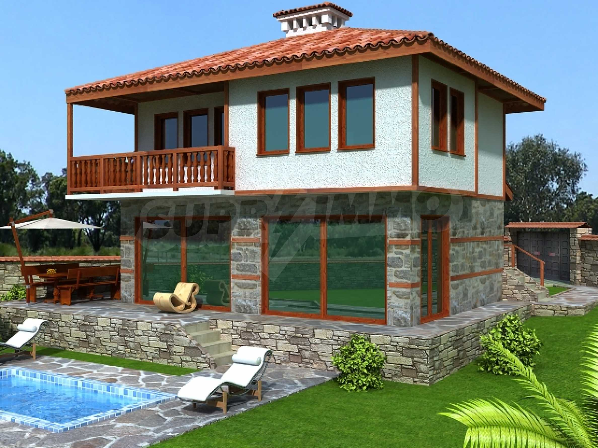 Plot for sale in Avren with project for house 5