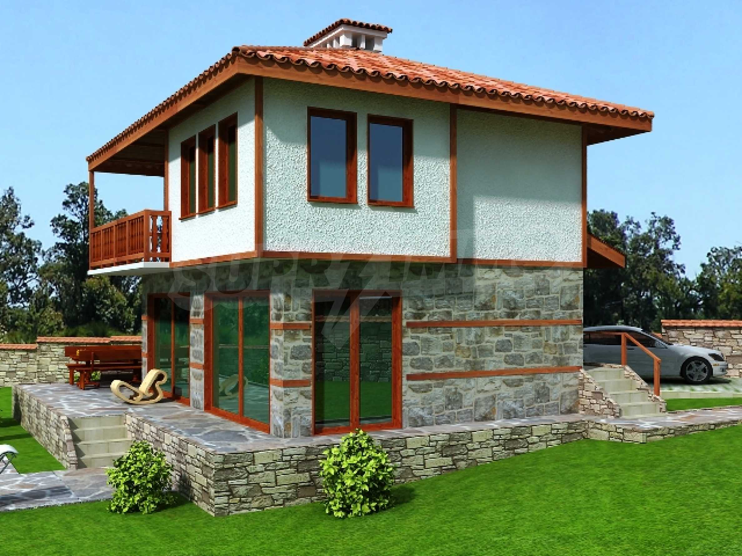 Plot for sale in Avren with project for house 7