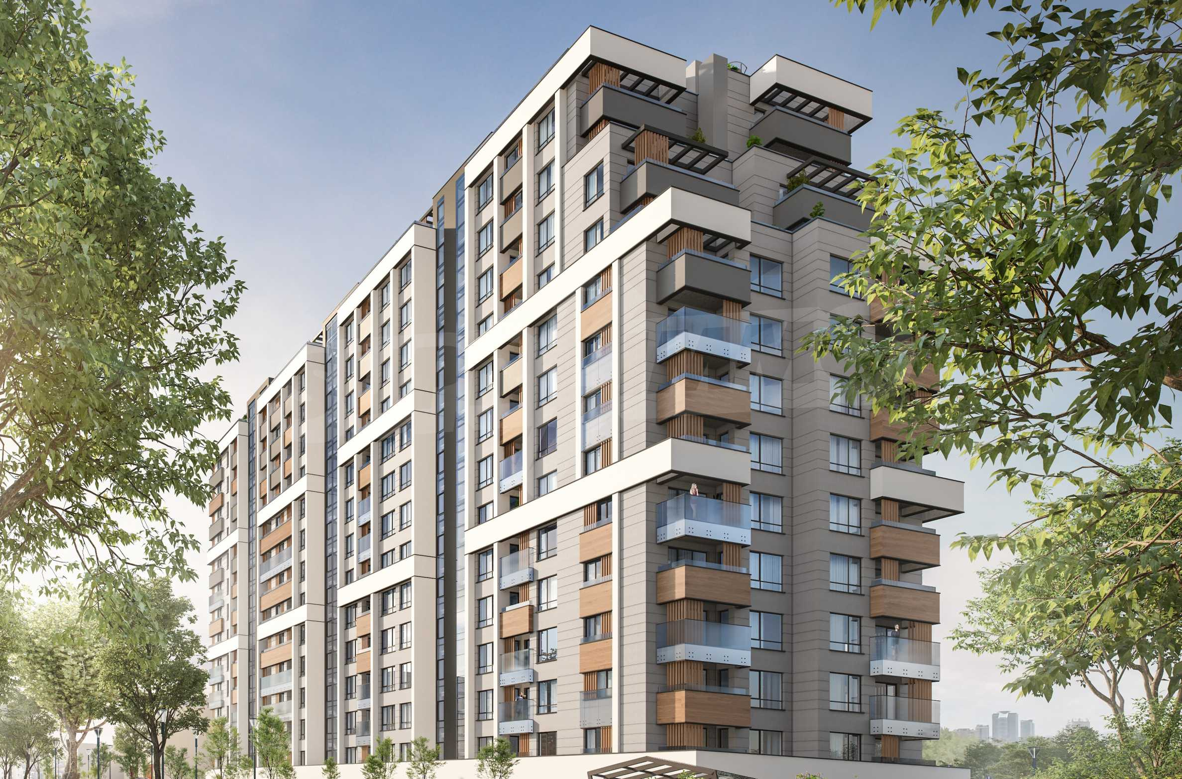 Two bedroom apartment in a new building next to the park, Mall Sofia and metro station