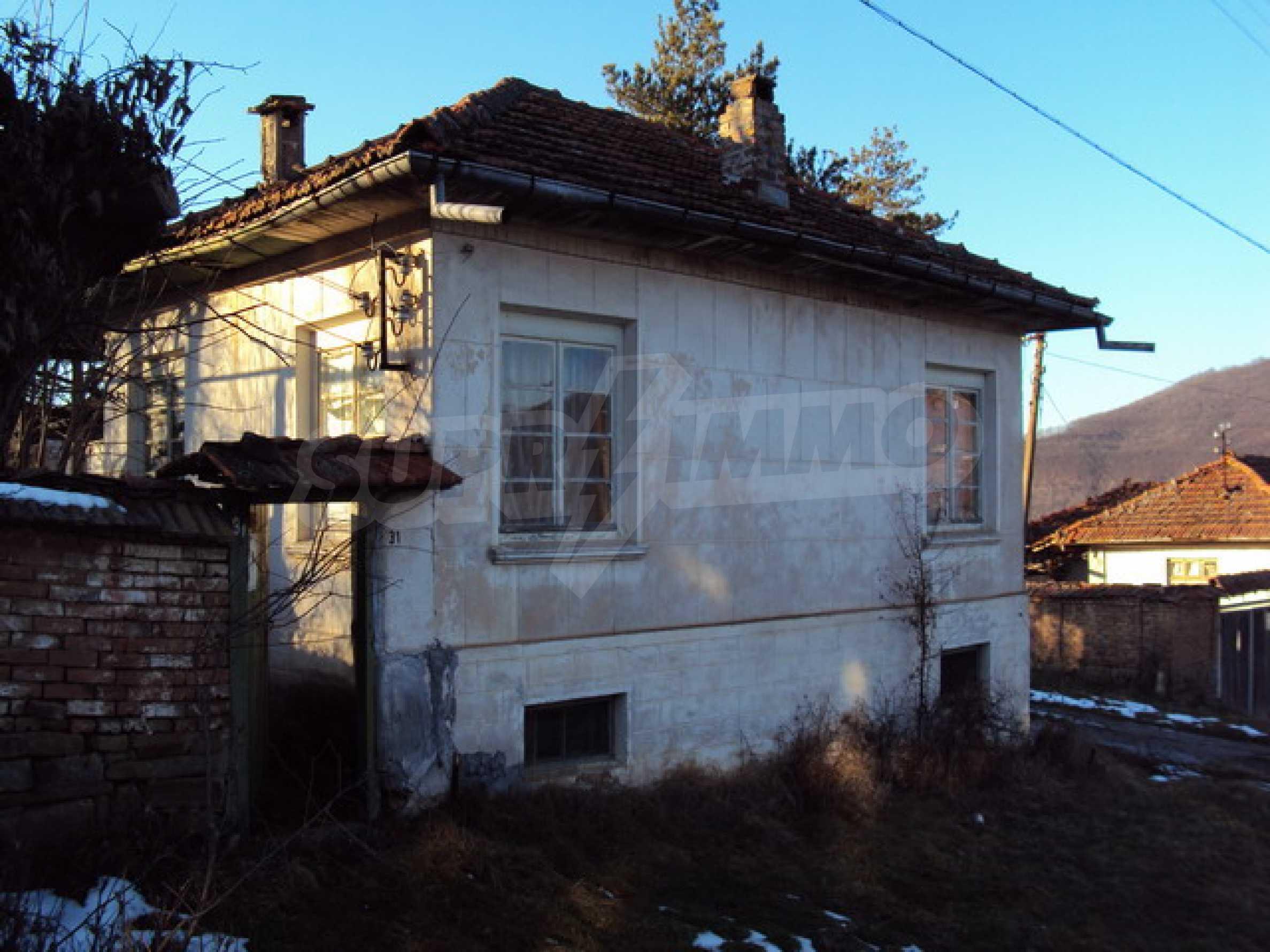 Одноэтажный сельский дом