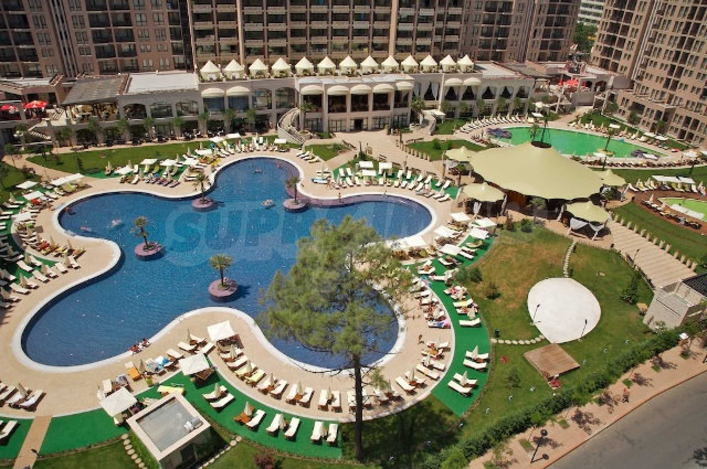 One-bedroom apartment in Royal Beach Barcelo complex in Sunny Beach