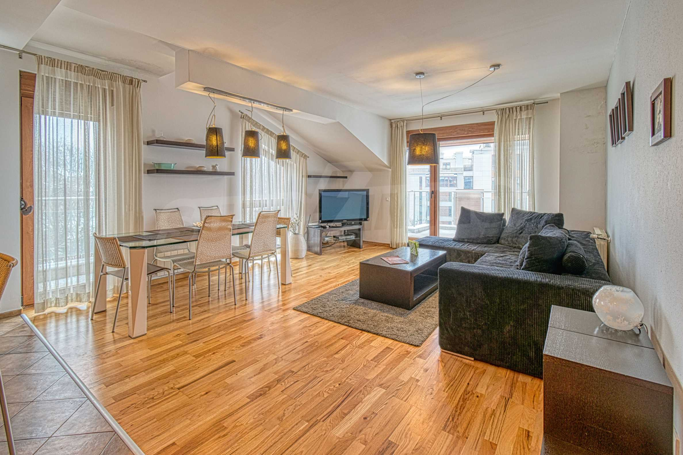 Luxurious and fully furnished two-bedroom apartment in a gated complex at the foot of Vitosha Mountain