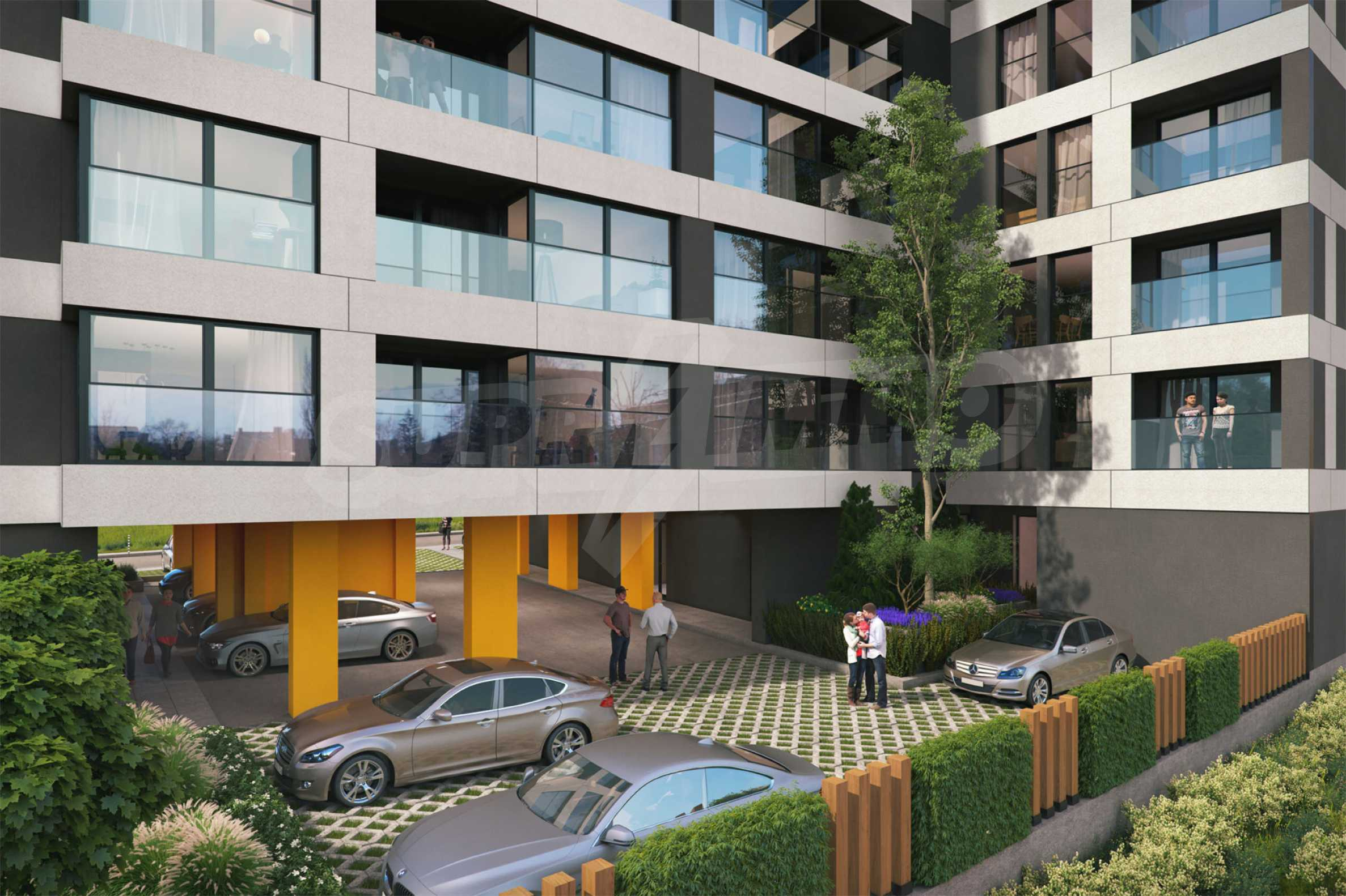 New building with apartments and shops near NBU at attractive prices 2