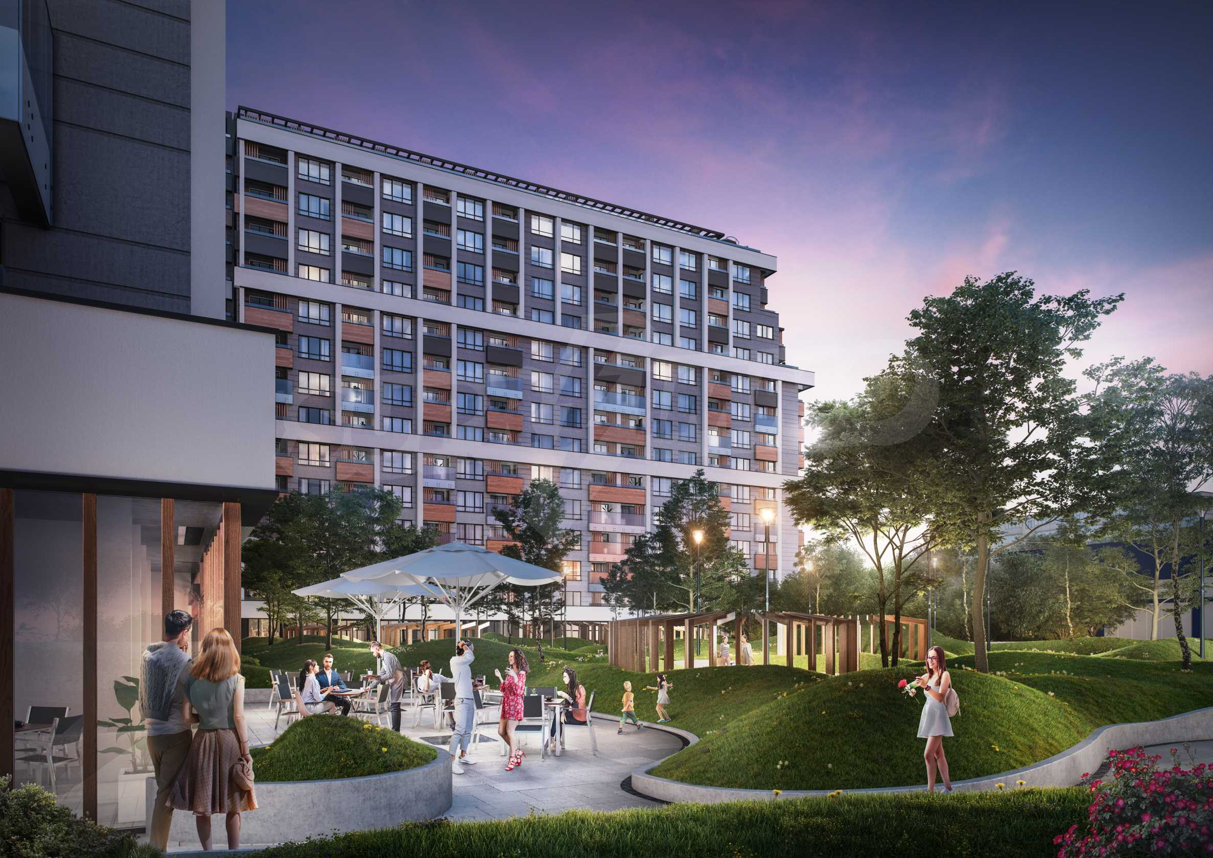 One bedroom apartment next to a park, Mall Sofia and metro station 5
