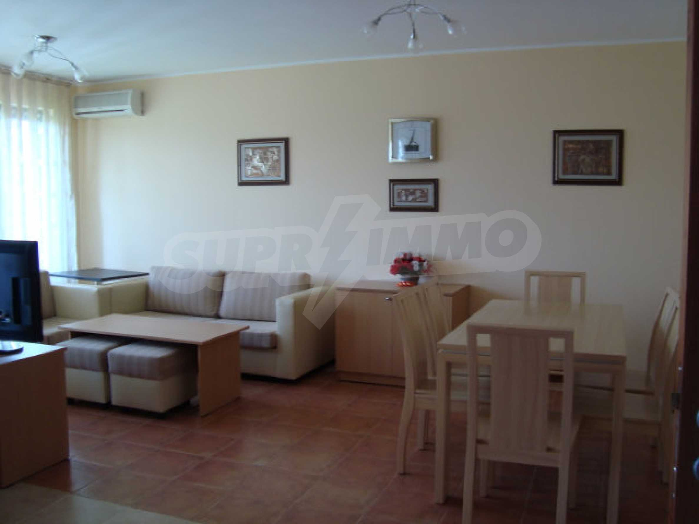 Two-bedroom apartment in Saint Nicholas complex in Chernomorets 11
