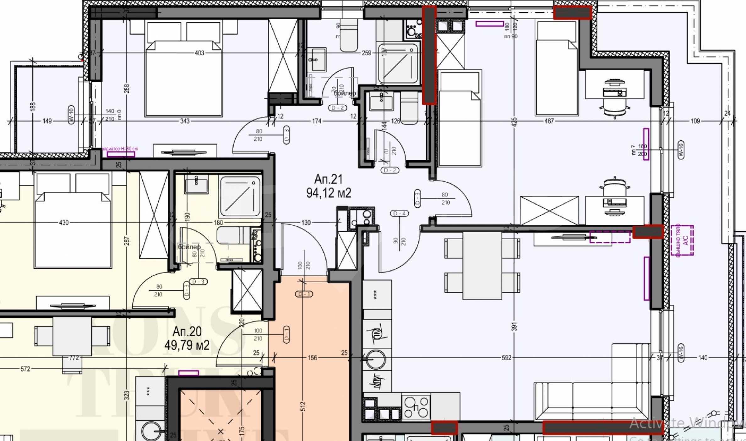Apartment mit zwei Schlafzimmern in einem neuen Gebäude im Zentrum von Sofia in der Nähe einer U-Bahnstation 2