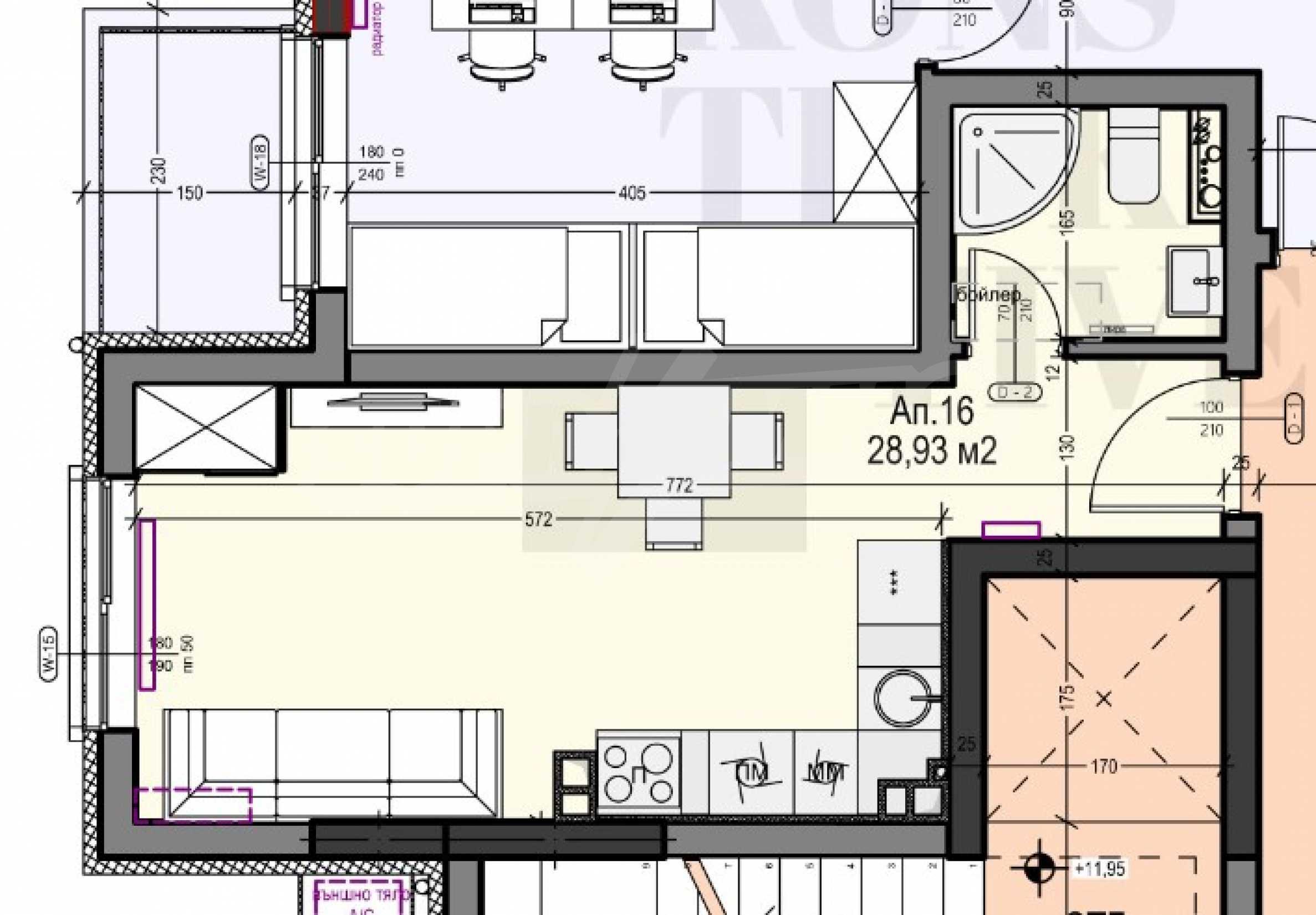 Studio in einem neuen Gebäude im Zentrum von Sofia neben einer U-Bahnstation 2