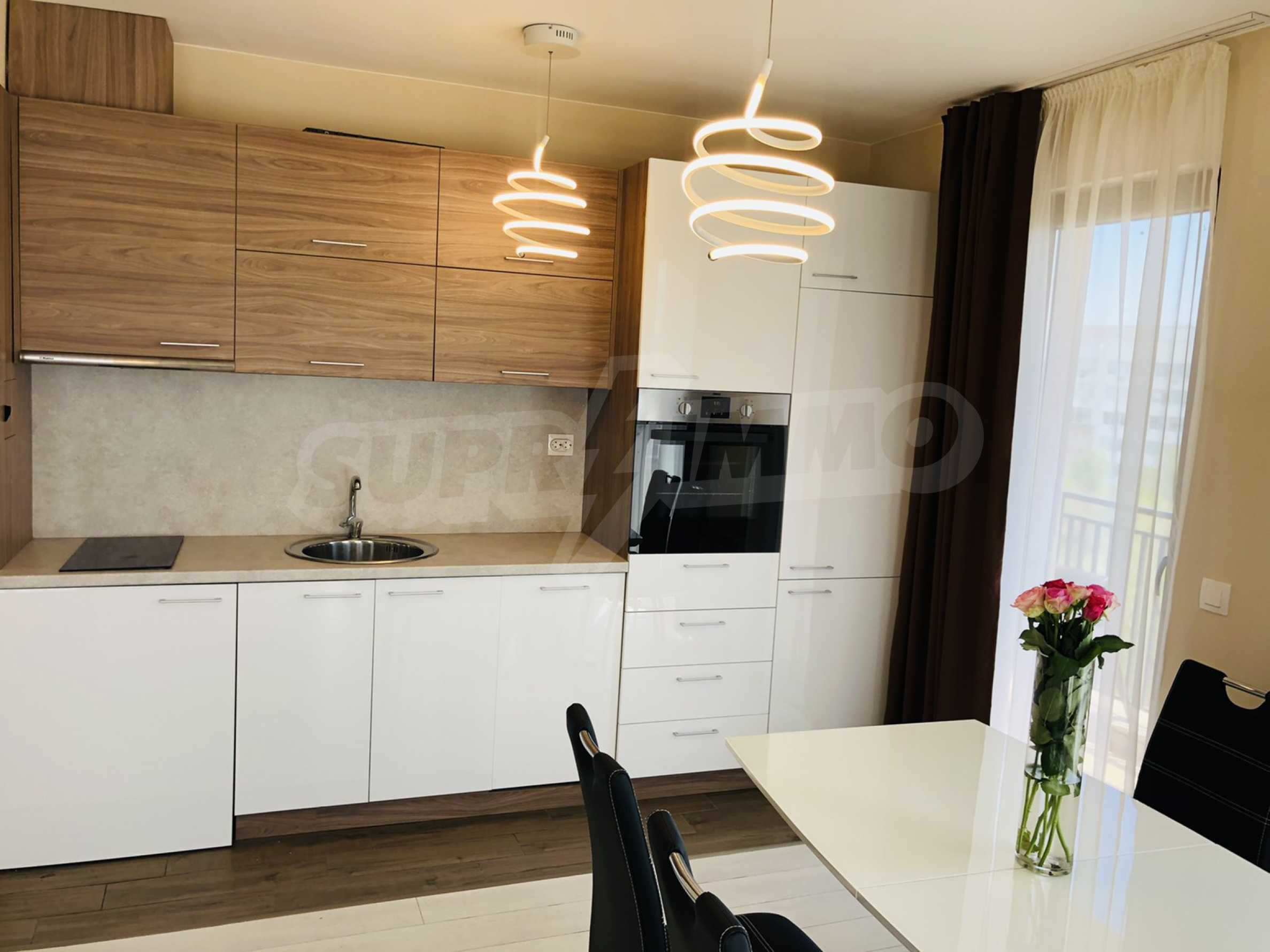 Two-bedroom, fully furnished, designer apartment in Student City 1