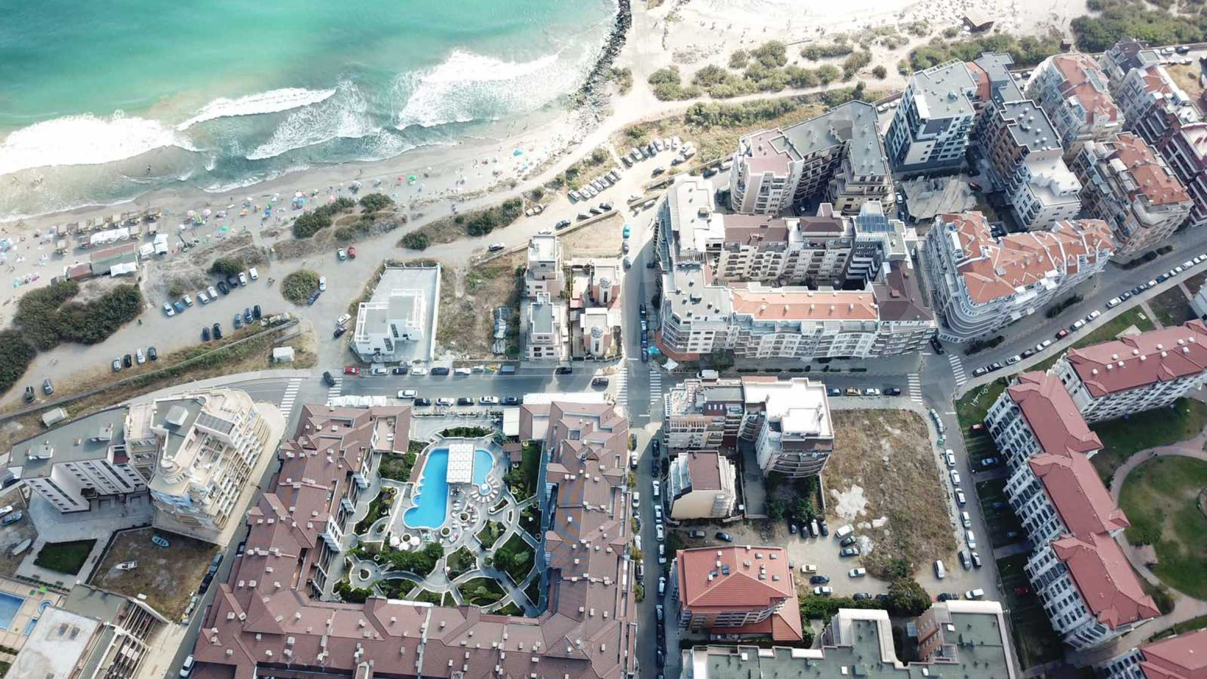 Plot of land for construction on the second line from the beach, with sea view in Pomorie