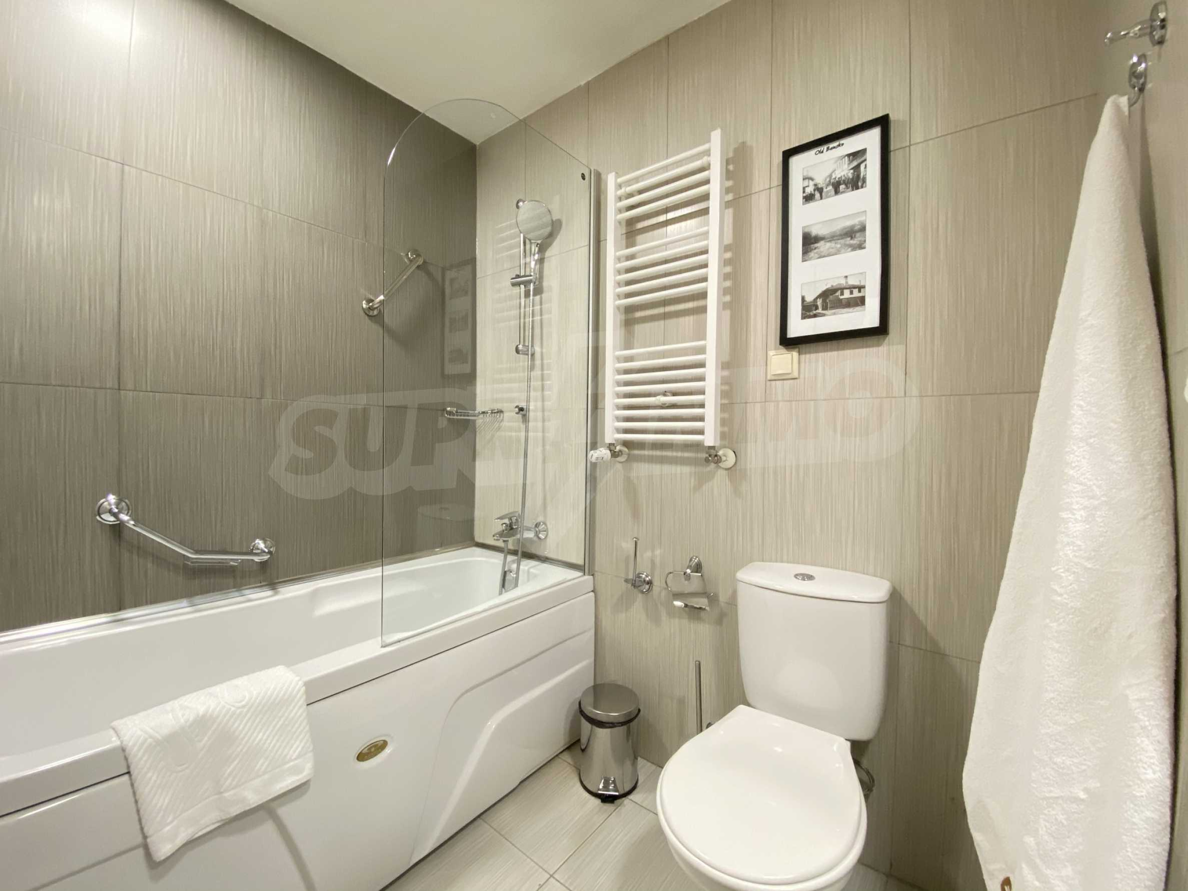 Stylishly furnished studio with southern exposure in Lucky Bansko complex 6