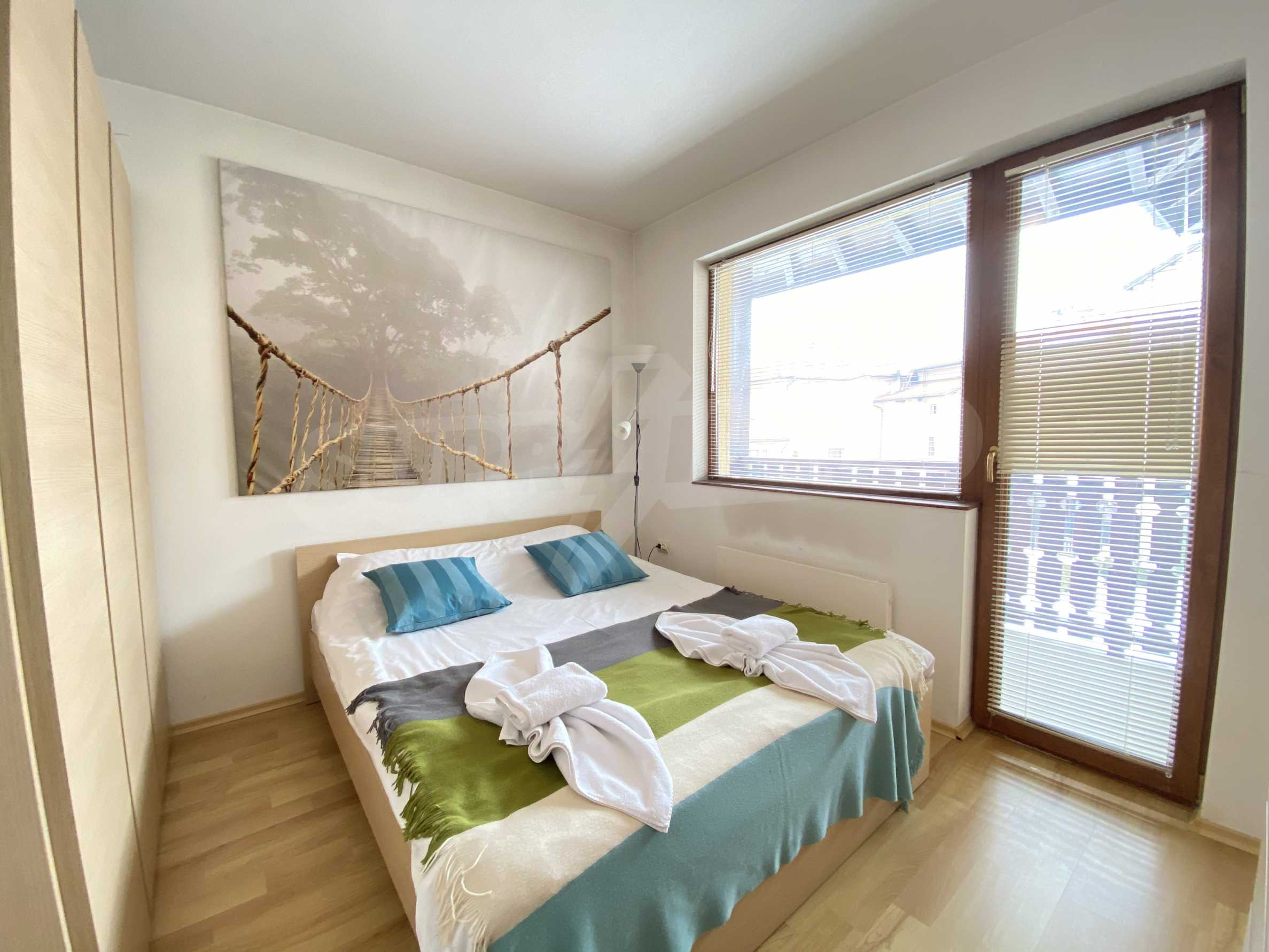 Furnished two-bedroom apartment located in a gated complex, just meters from the ski lift in Bansko 3